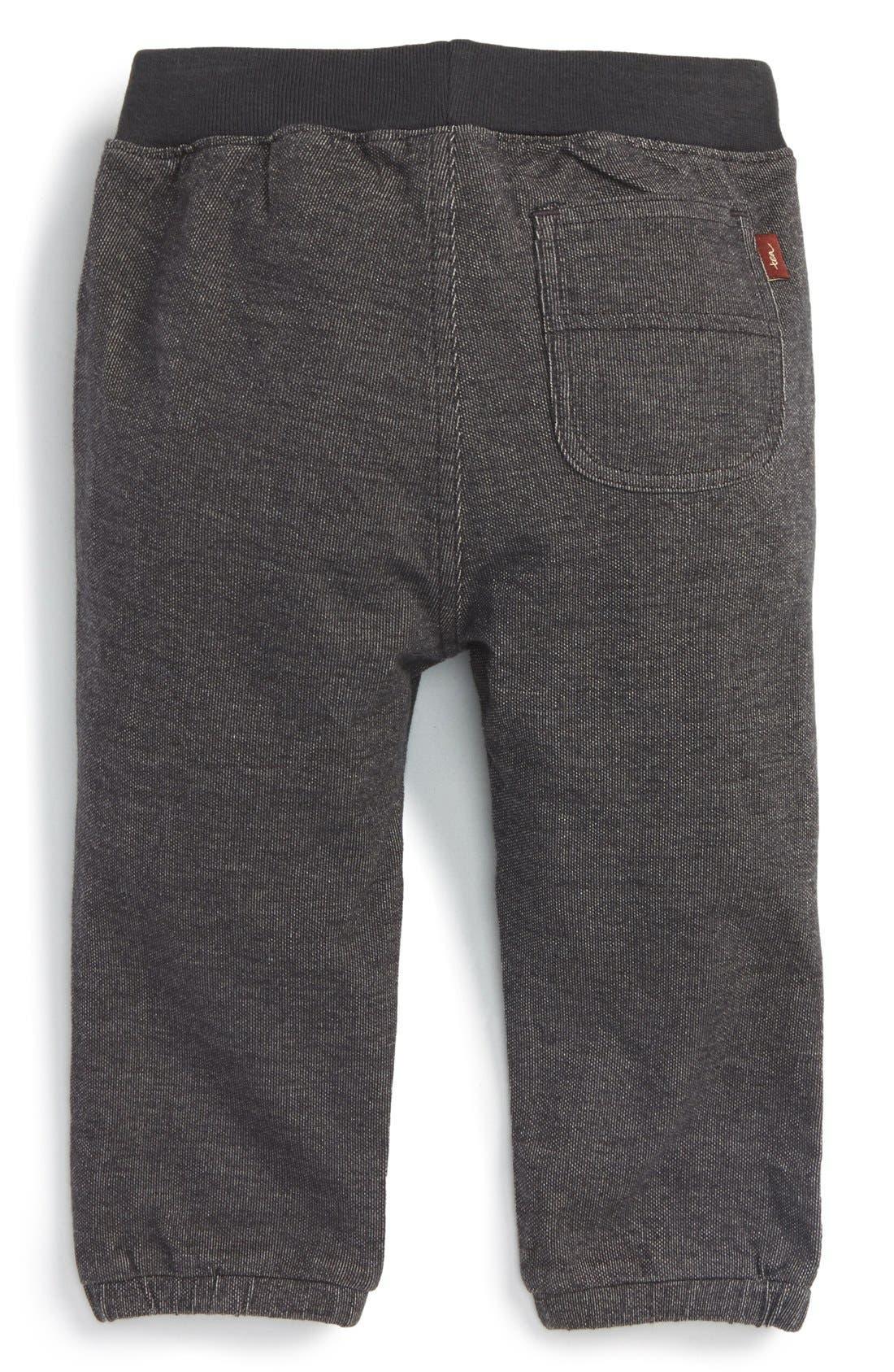 Alternate Image 2  - Tea Collection Denim Look Sweatpants (Baby Boys)