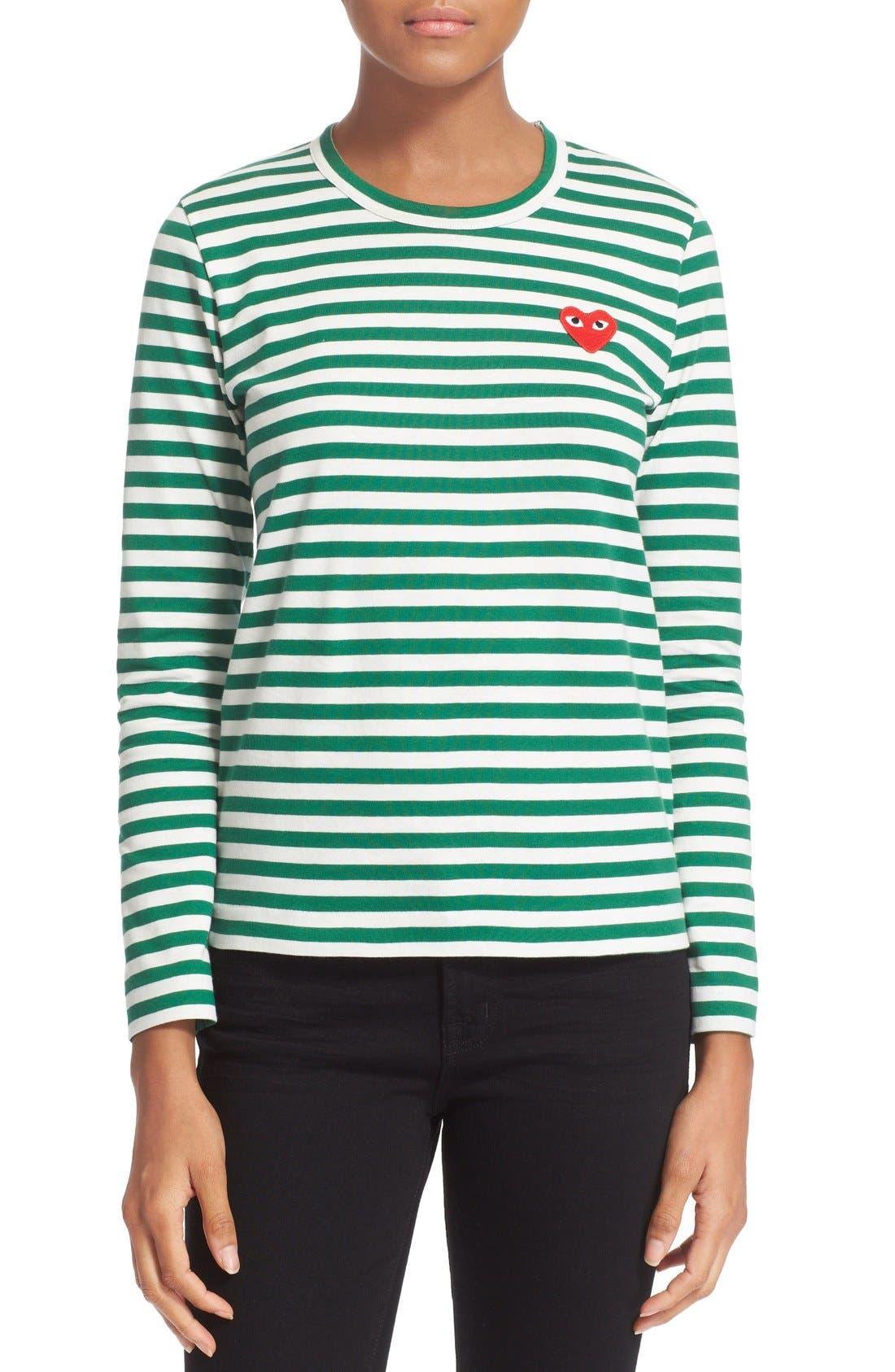Alternate Image 1 Selected - Comme des Garçons PLAY Stripe Cotton Tee