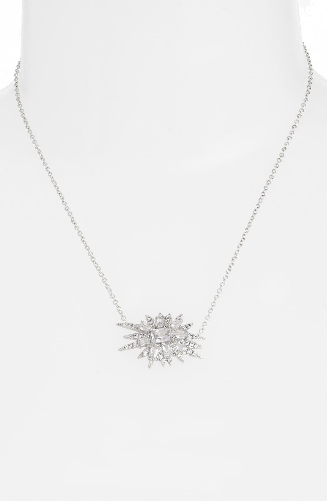 Alternate Image 2  - CZ by Kenneth Jay Lane 'Explosion' Cubic Zirconia Pendant Necklace
