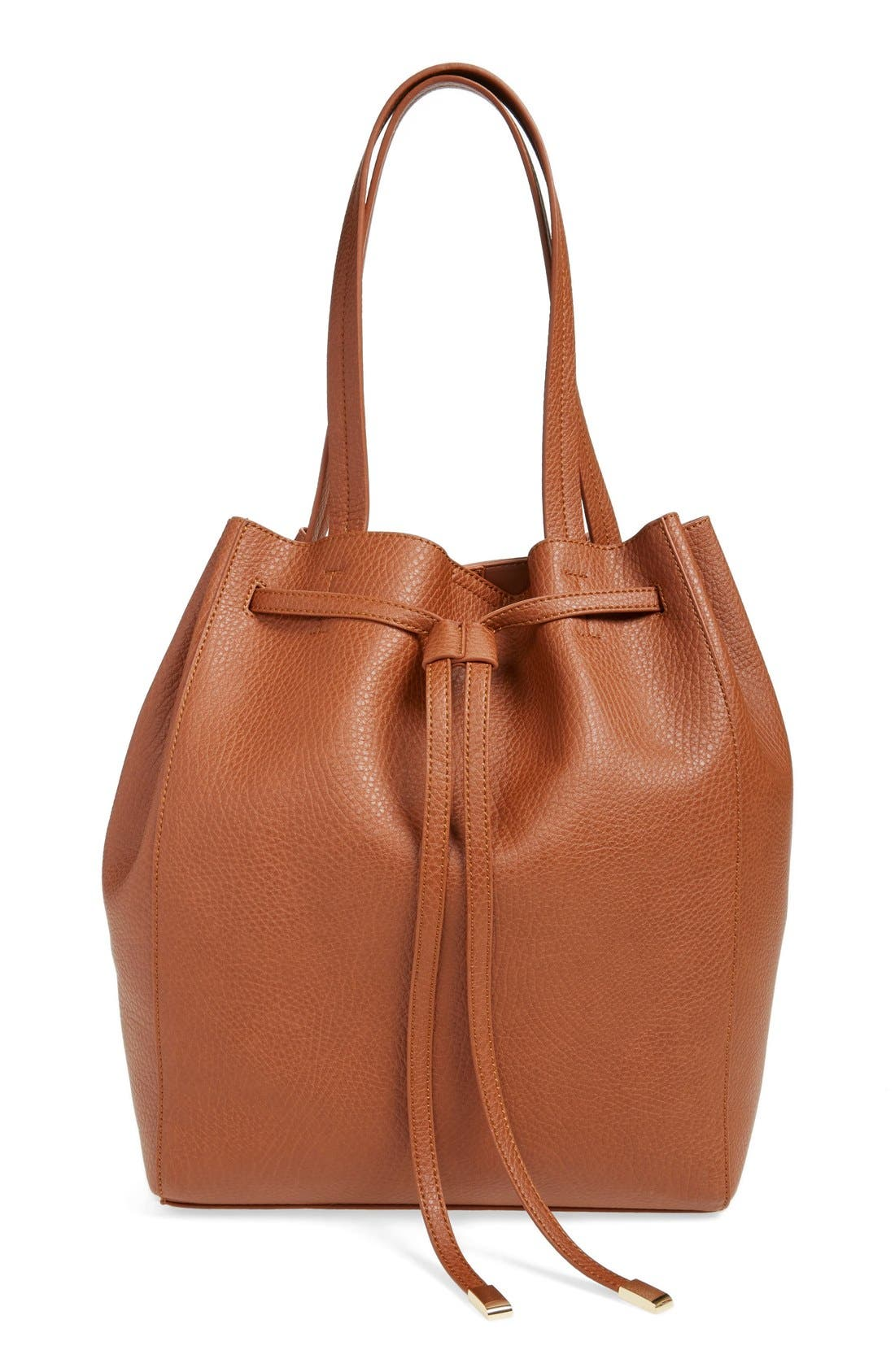 Alternate Image 2  - BP. Faux Leather Drawstring Tote