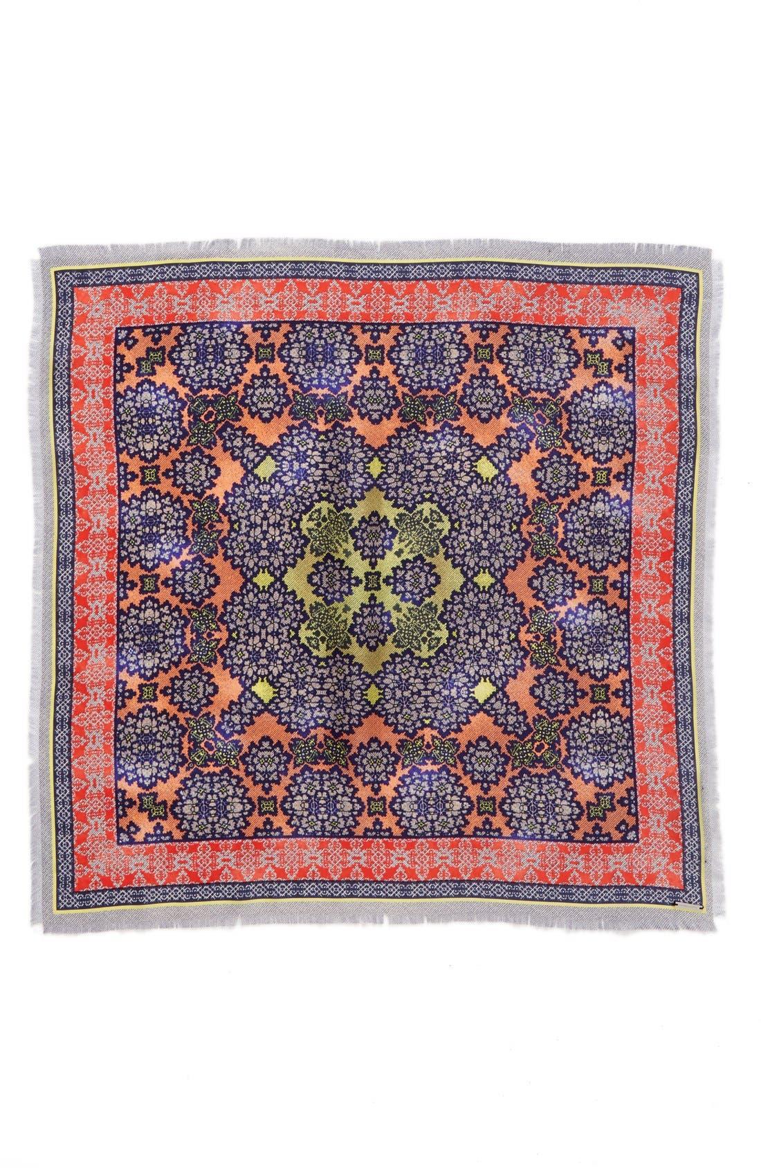 Alternate Image 2  - BCBGMAXAZRIA 'Woodblock' Silk Square Scarf