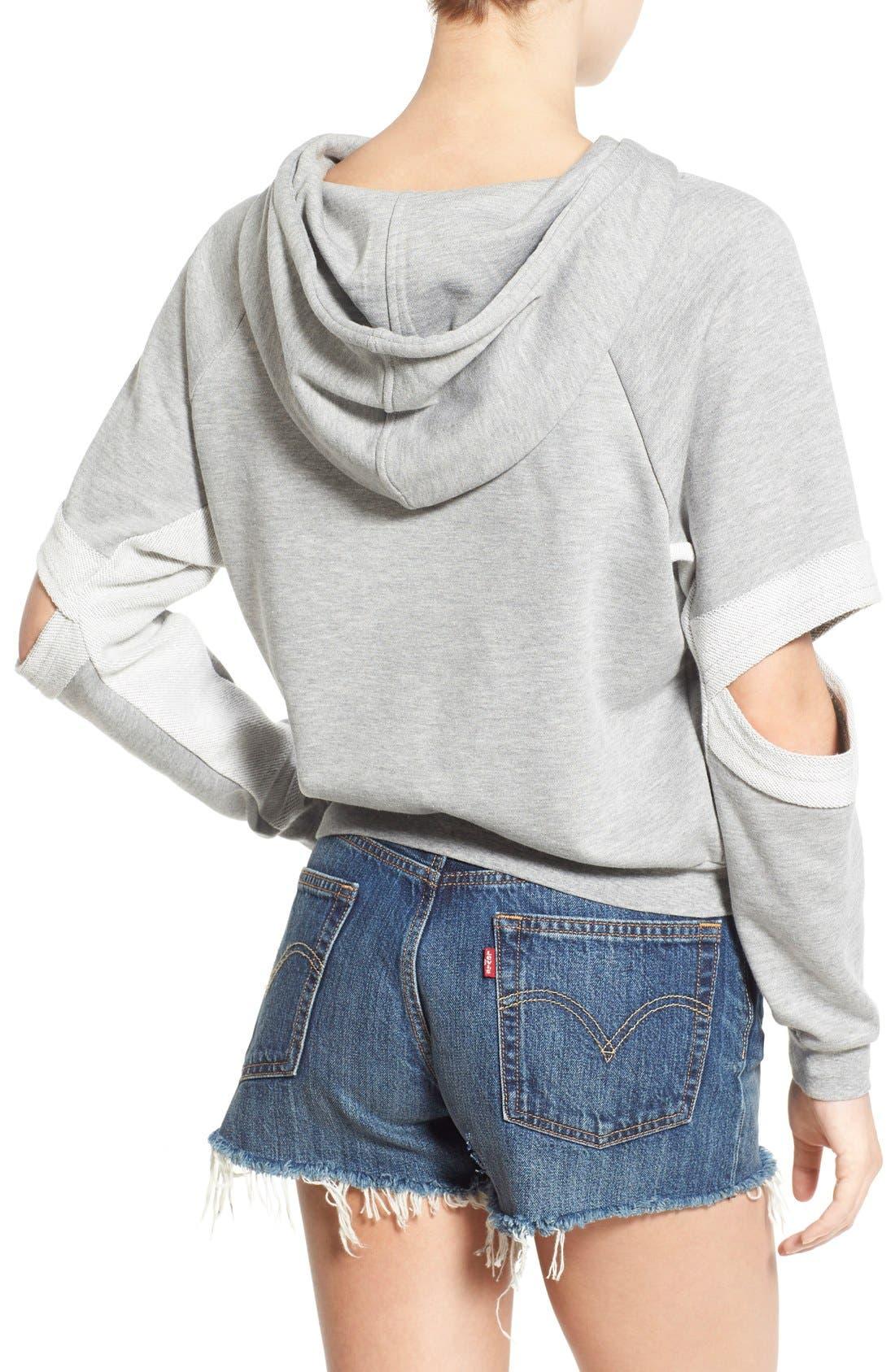 Alternate Image 2  - PUBLISH BRAND 'Lucia' Cutout Sleeve Hoodie