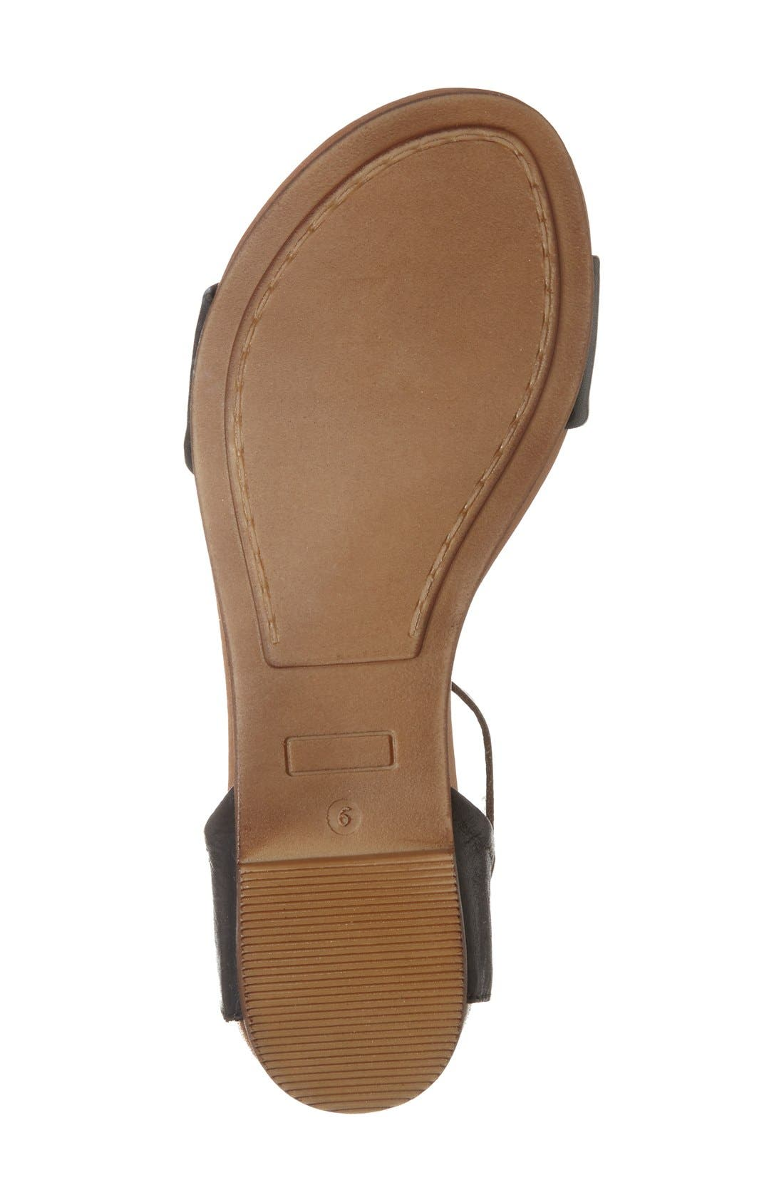 'Alanis' Sandal,                             Alternate thumbnail 4, color,                             Black Leather