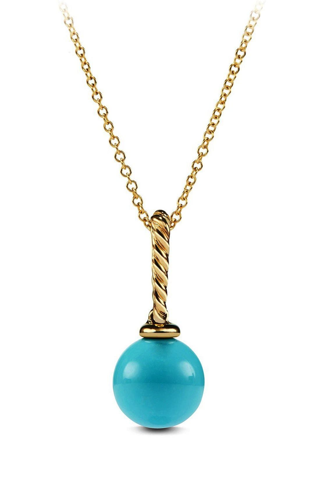 David Yurman 'Solari' Pendant Necklace in 18K Gold