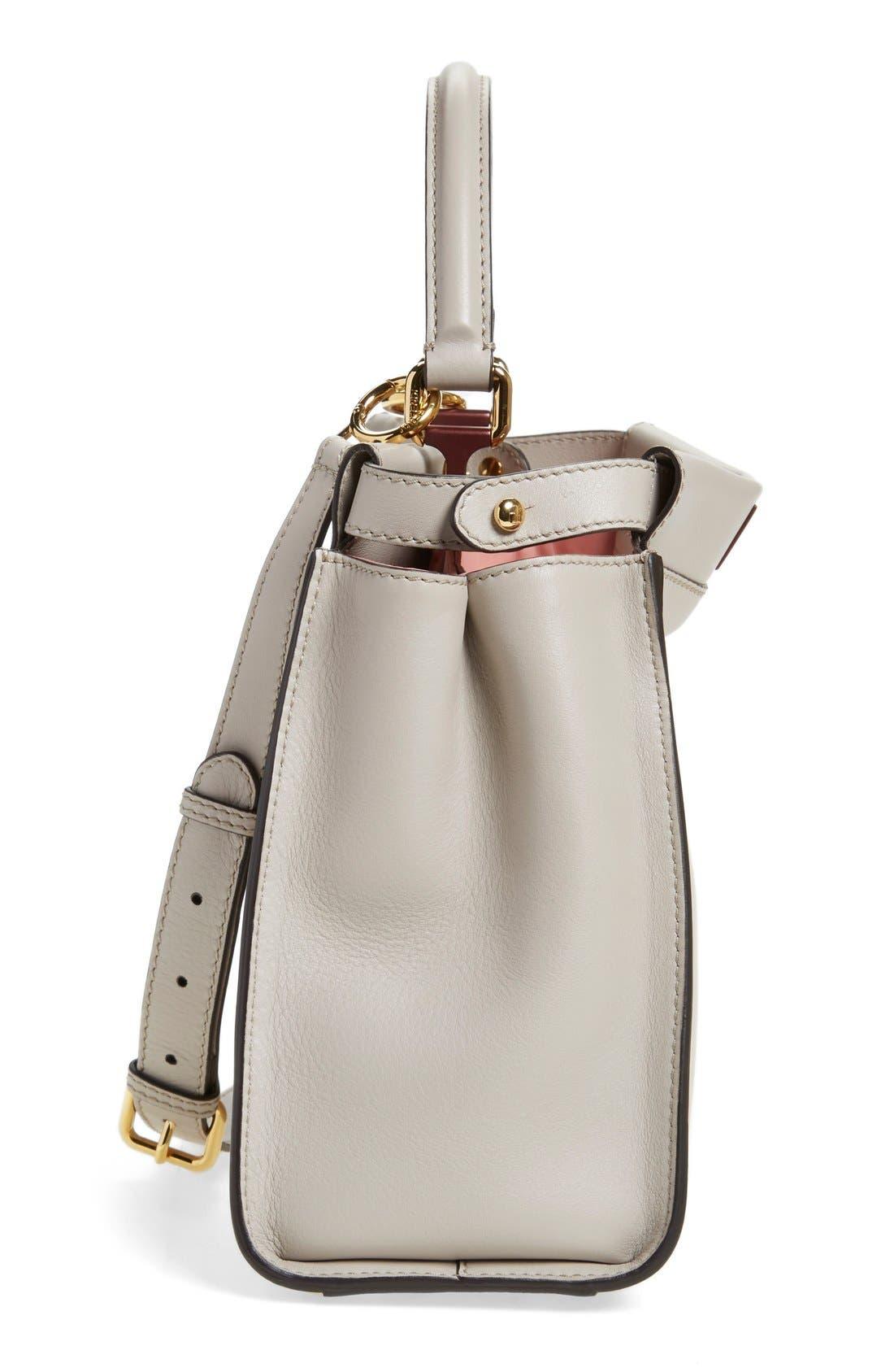 'Peek-A-Boo' Medium Crossbody Bag,                             Alternate thumbnail 4, color,                             Grey Powder/Rose
