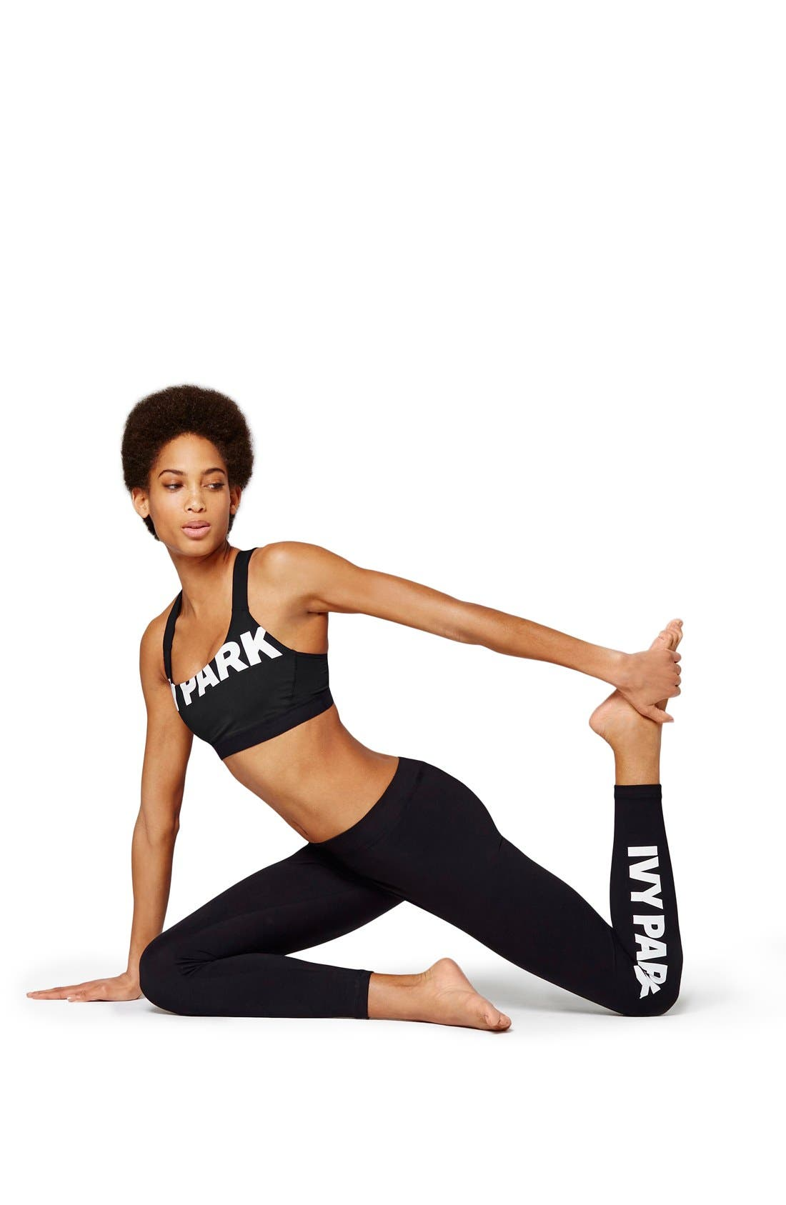 Alternate Image 5  - IVY PARK® Logo Mid Rise Ankle Leggings
