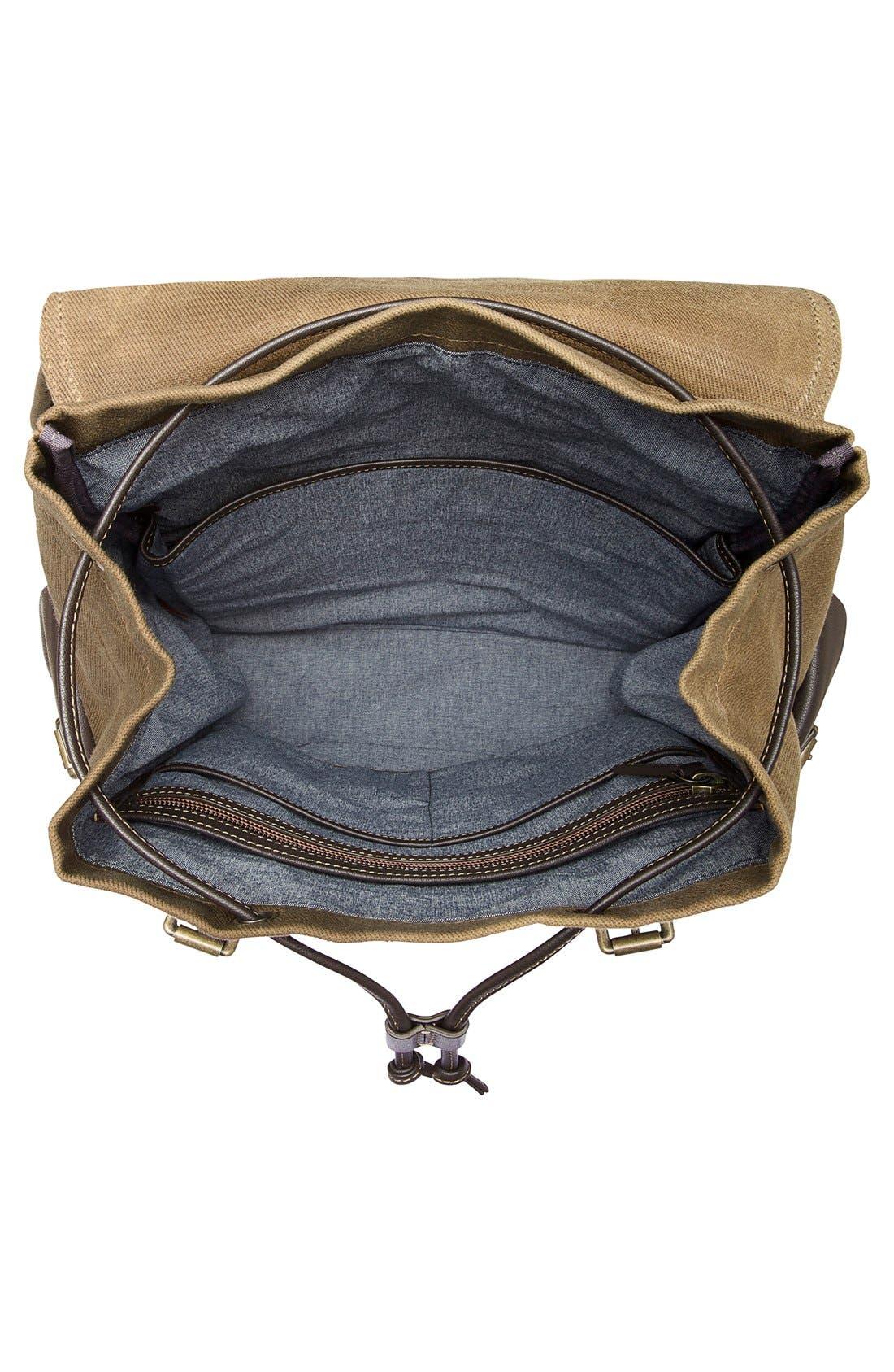 'Bridger' Waxed Canvas Backpack,                             Alternate thumbnail 2, color,                             Ranger Tan