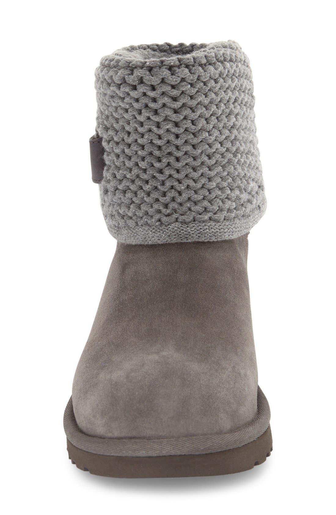 Alternate Image 3  - UGG® Shaina Knit Cuff Bootie (Women)