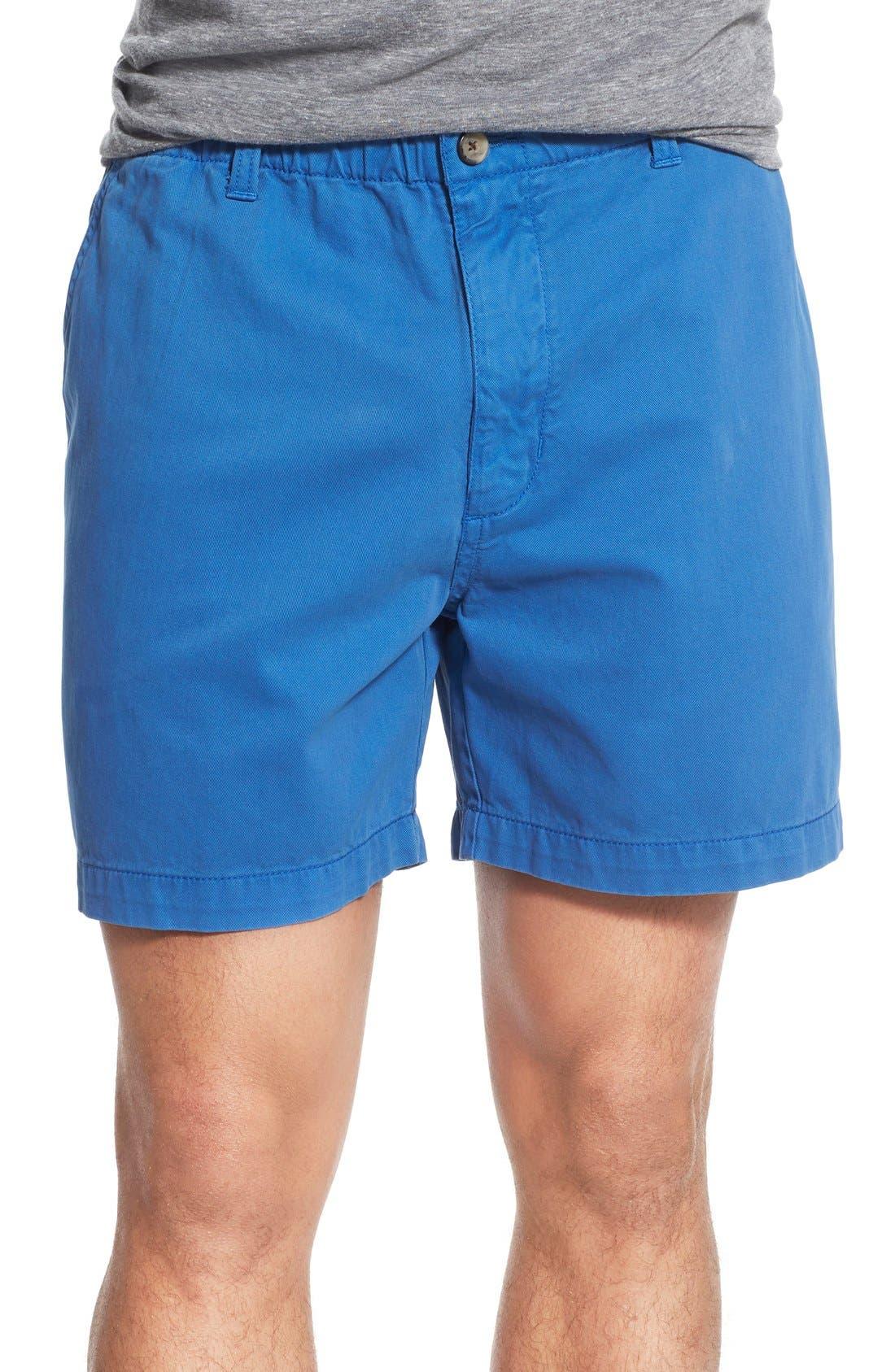 Alternate Image 1 Selected - Vintage 1946 'Snappers' Vintage Washed Elastic Waistband Shorts