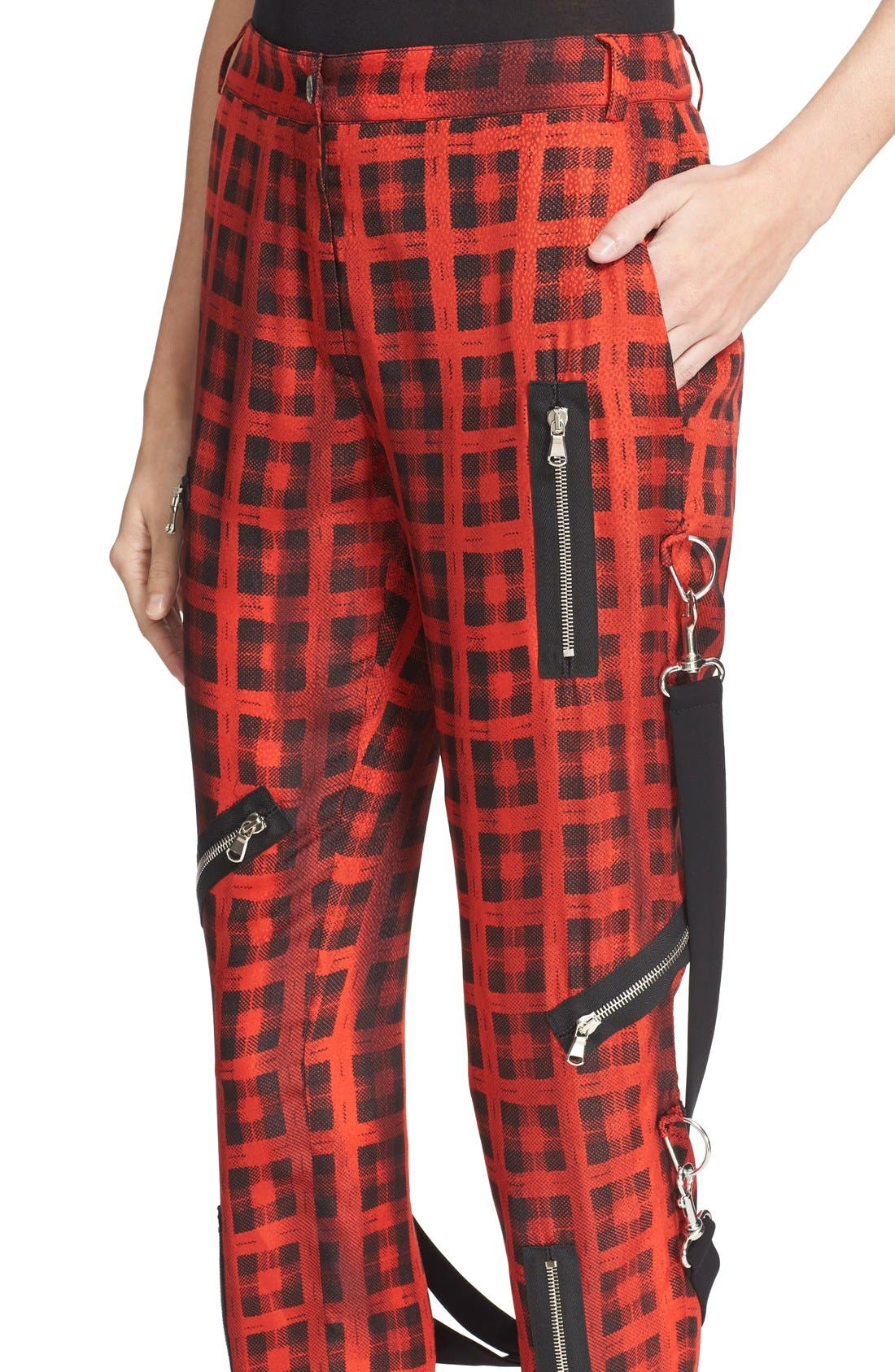Alternate Image 6  - Moschino Plaid Print Ankle Pants with Detachable Suspenders