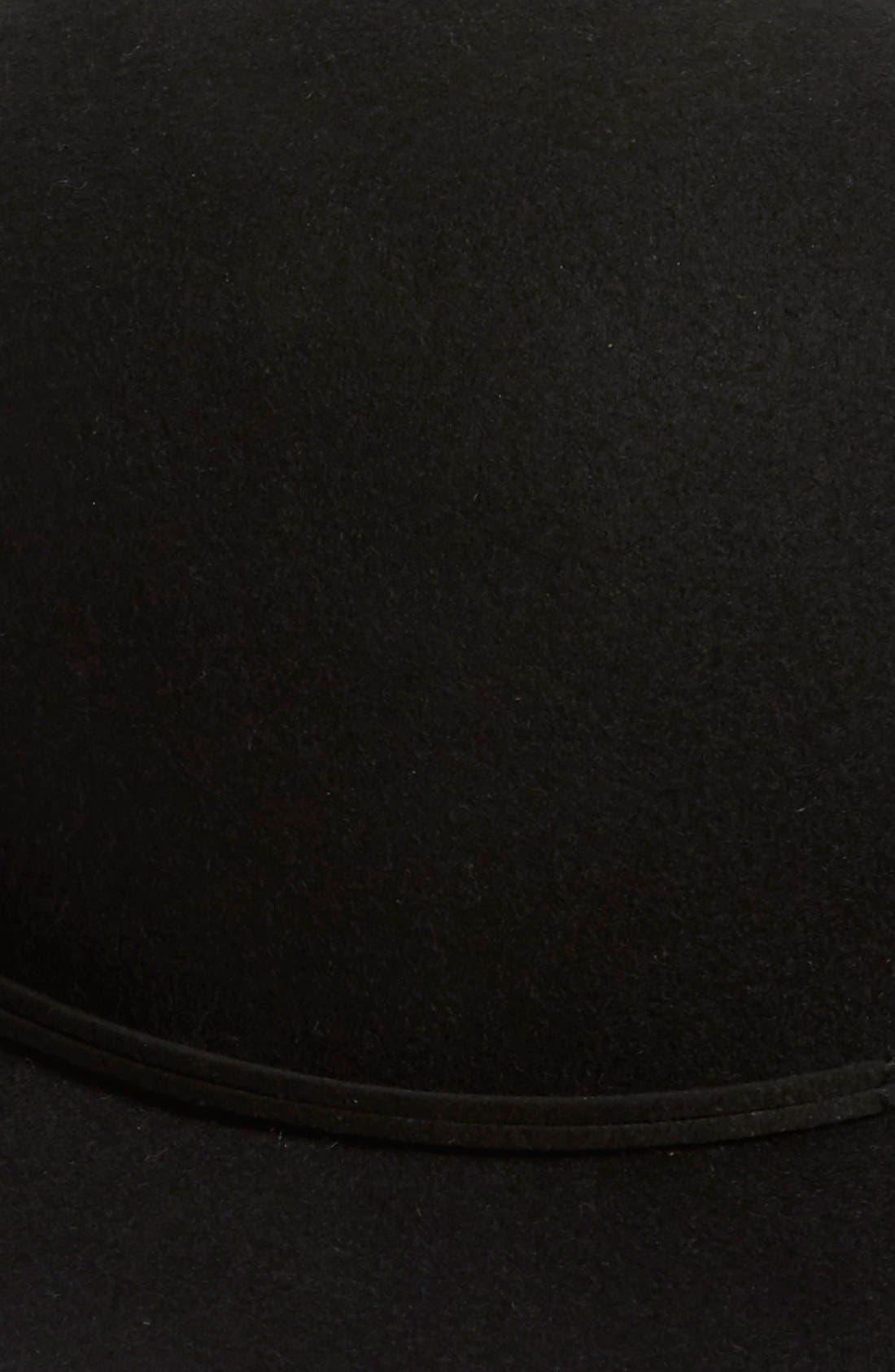 Wool Round Crown Hat,                             Alternate thumbnail 2, color,                             Black