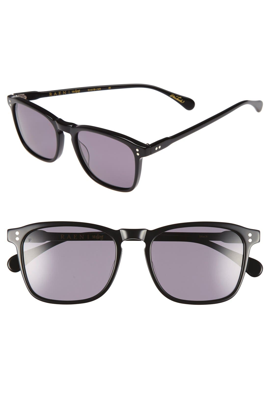 'Wiley' 54mm Sunglasses,                         Main,                         color, Black