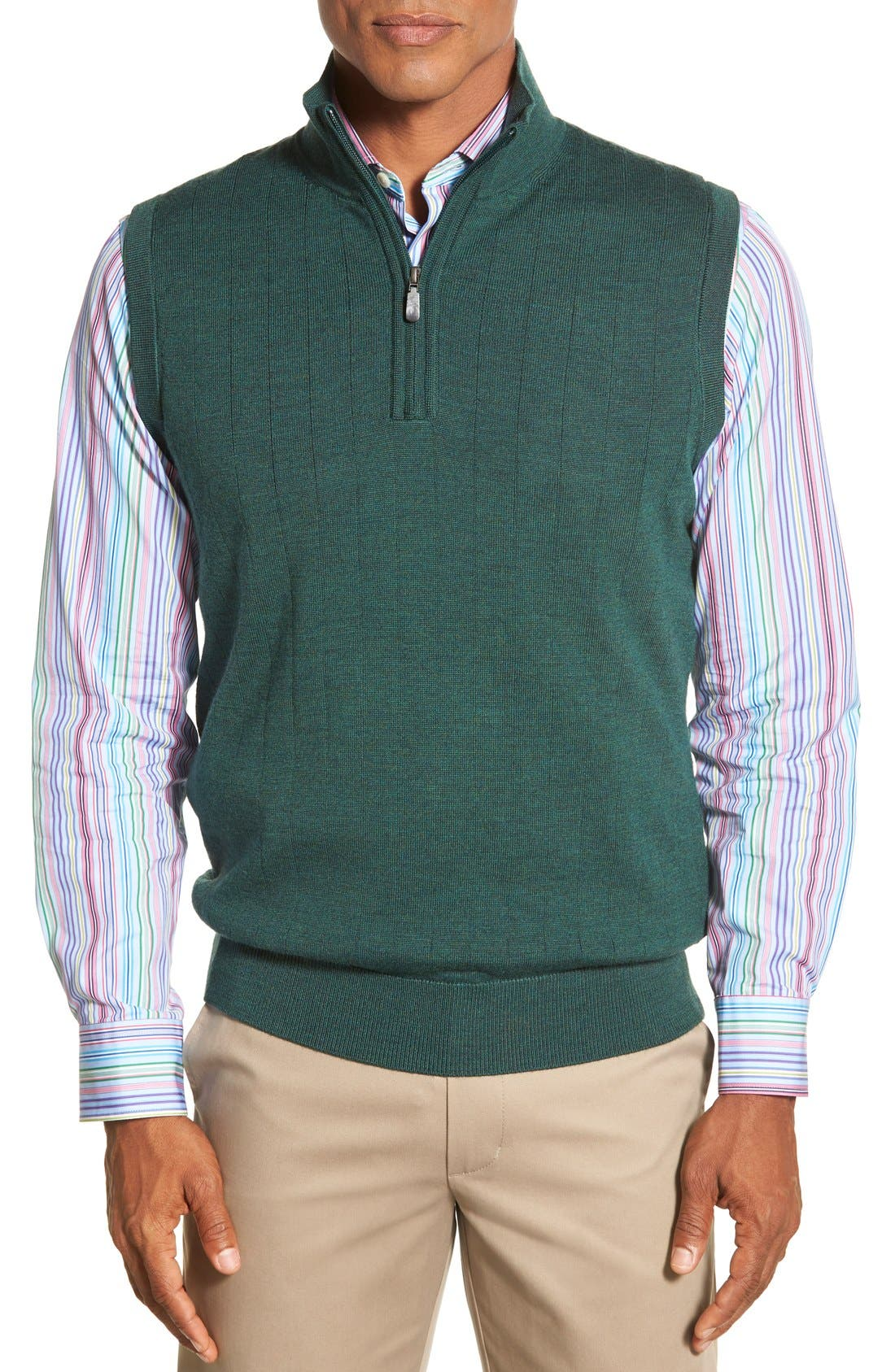 Bobby Jones Quarter Zip Wool Sweater Vest
