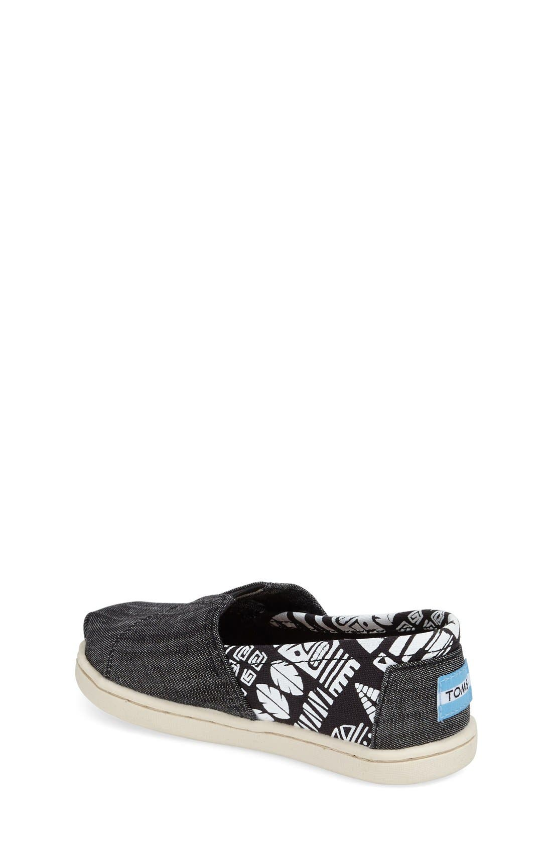 'Tiki' Canvas Slip-On,                             Alternate thumbnail 2, color,                             Black