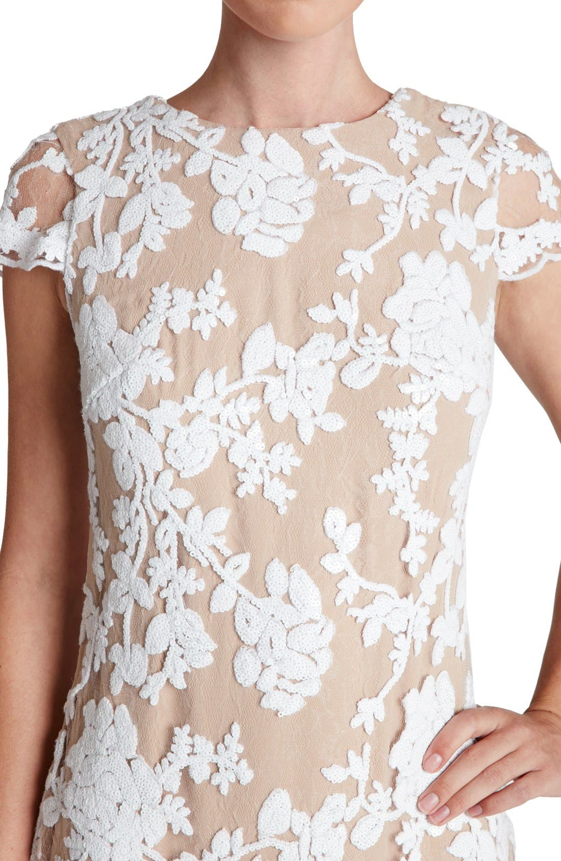 Alternate Image 4  - Dress the Population 'Hope' Lace Sheath Dress
