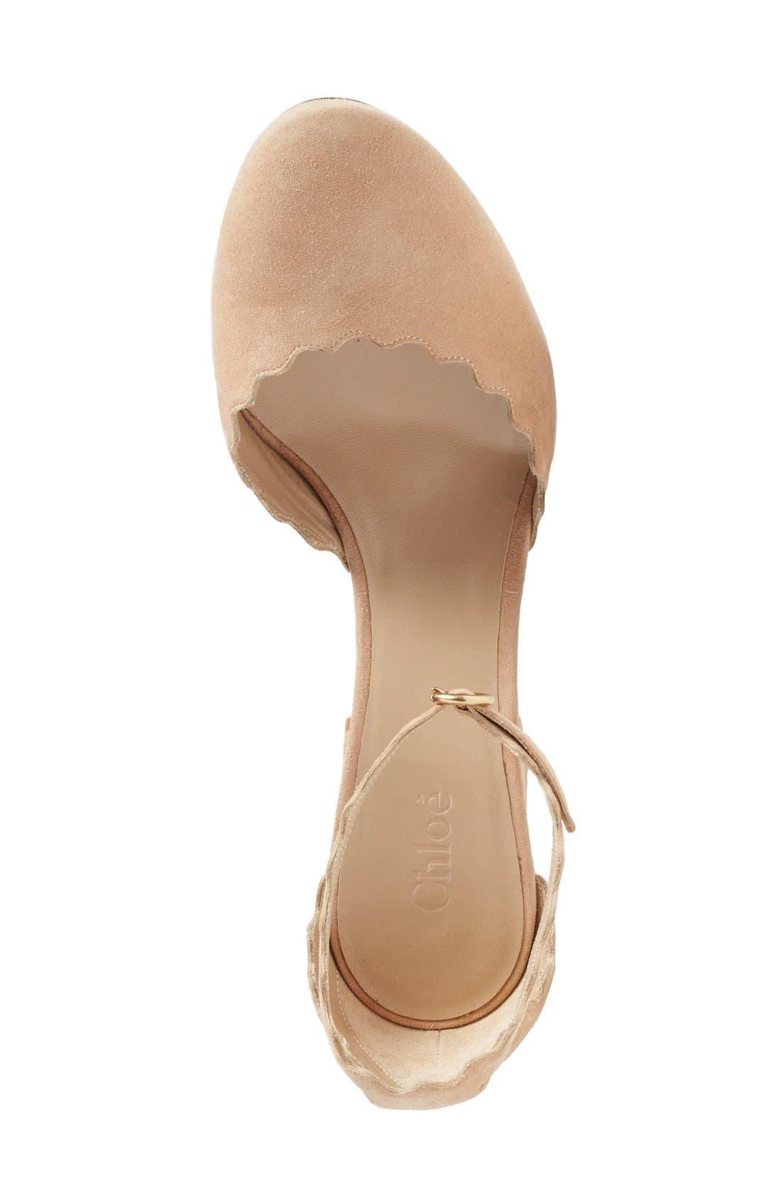 Alternate Image 3  - Chloé Scalloped Ankle Strap d'Orsay Pump (Women)