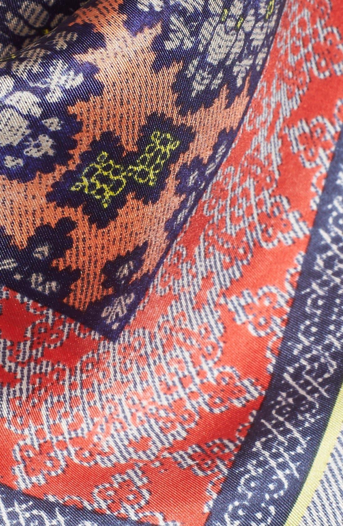 Alternate Image 3  - BCBGMAXAZRIA 'Woodblock' Silk Square Scarf