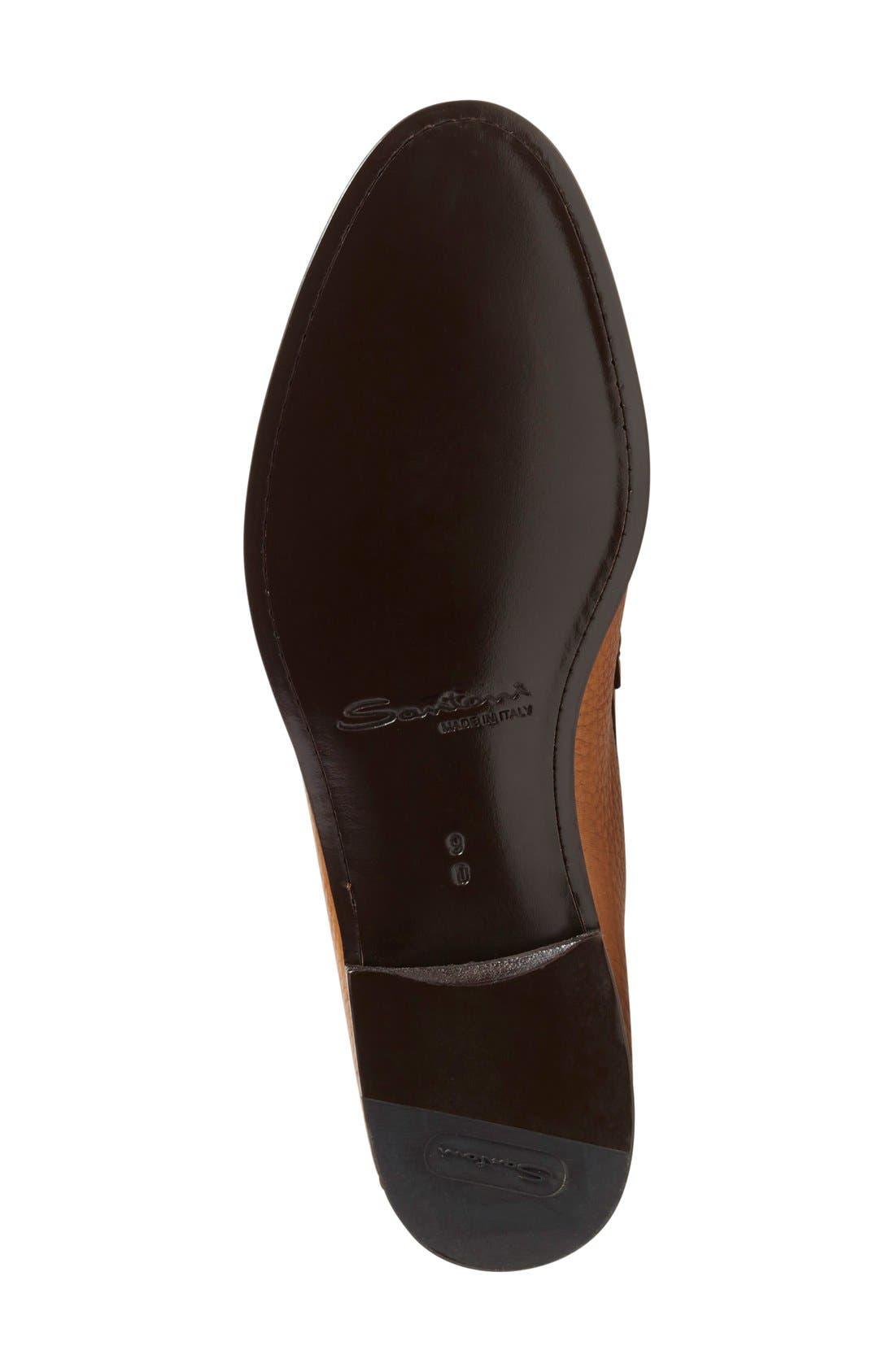 'Carmel' Penny Loafer,                             Alternate thumbnail 4, color,                             Tan Leather