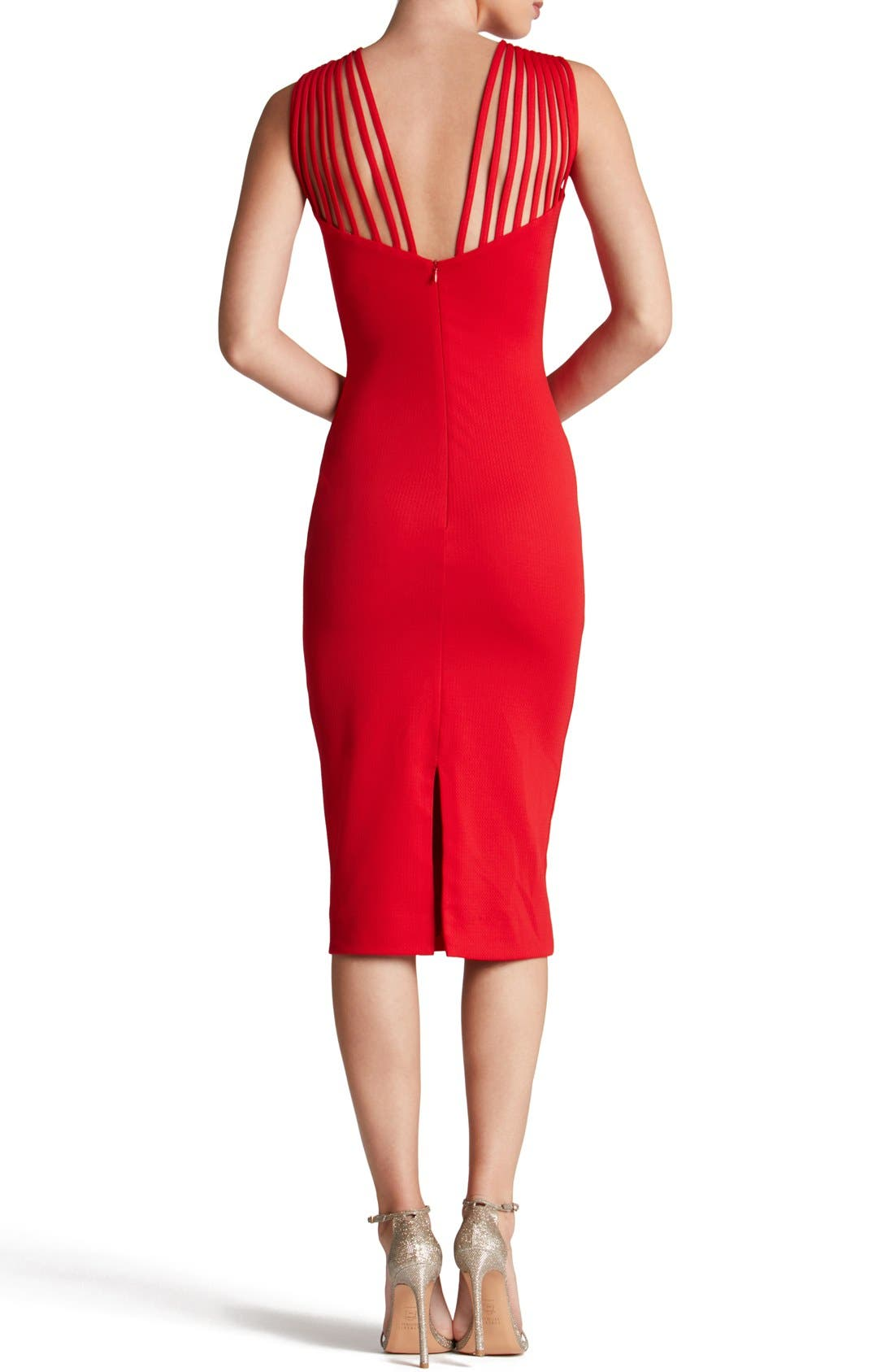 Alternate Image 2  - Dress the Population Gwen Midi Dress