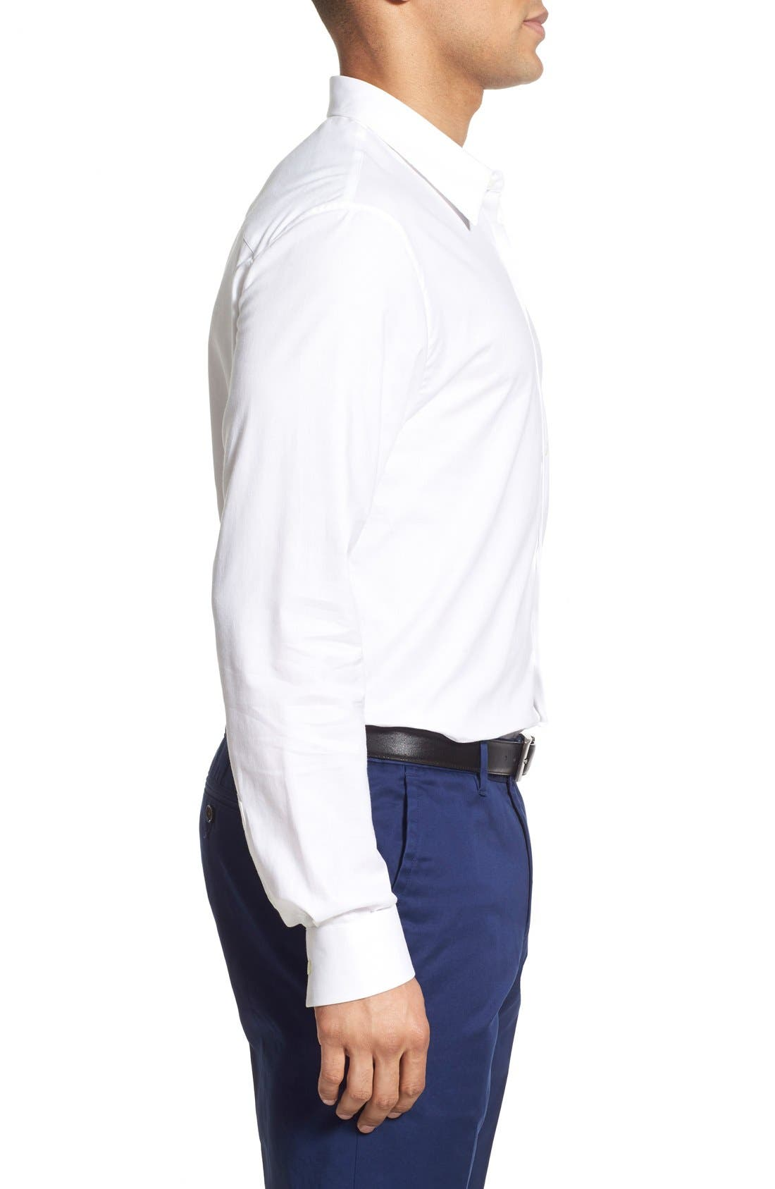 Alternate Image 3  - James Perse Trim Fit Sport Shirt