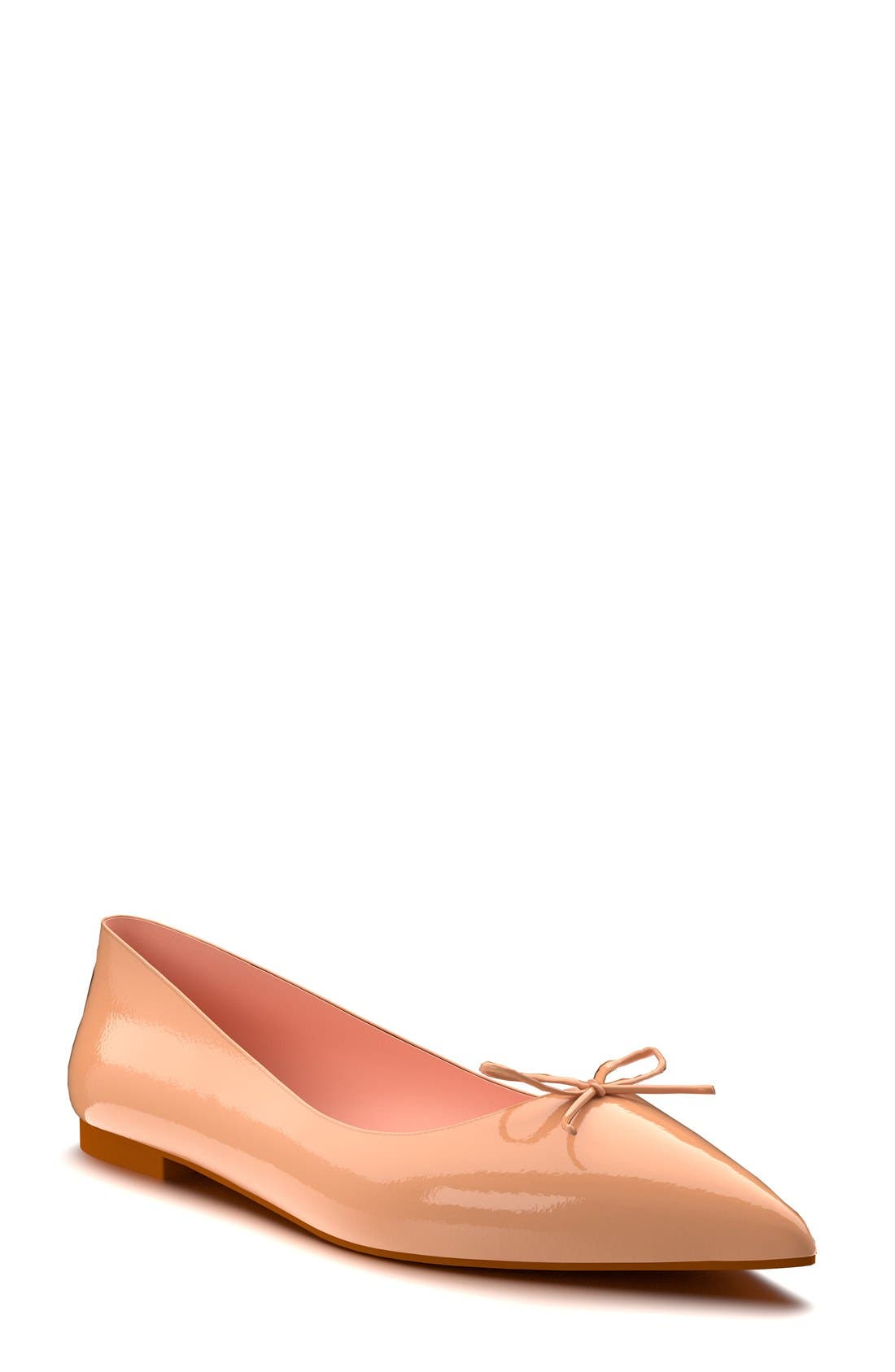 Shoes of Prey Pointy Toe Ballet Flat (Women)