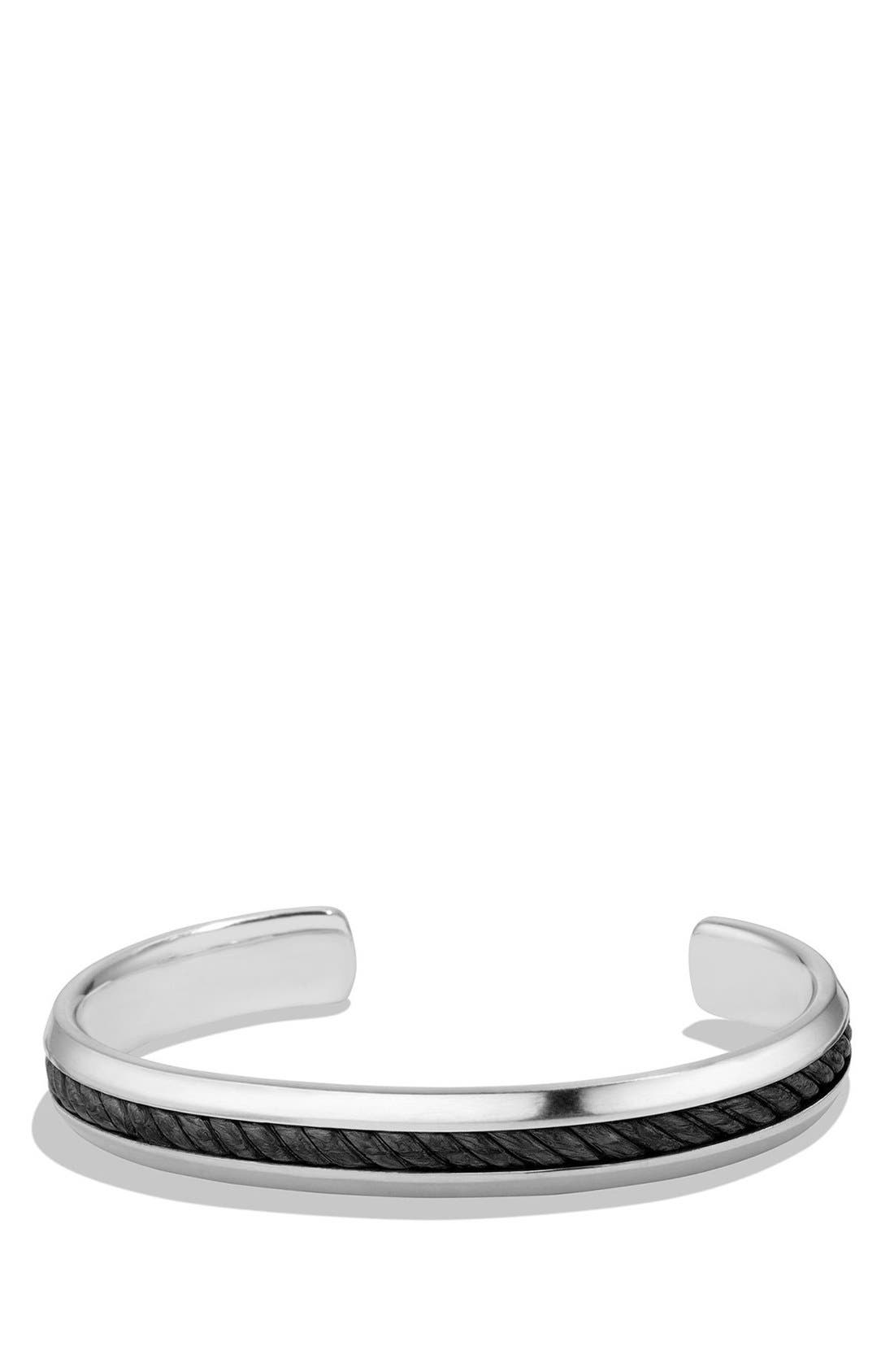 DAVID YURMAN Cable Classics Cuff Bracelet with Forged Carbon Cable