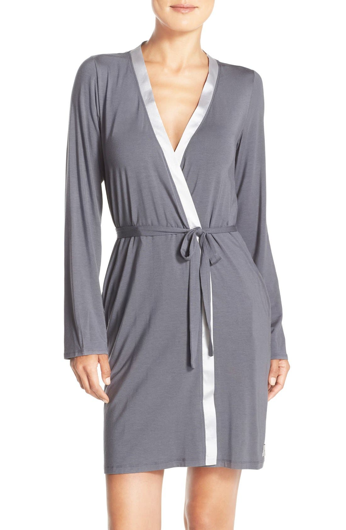 Alternate Image 1 Selected - Calvin Klein 'Essentials' Short Robe