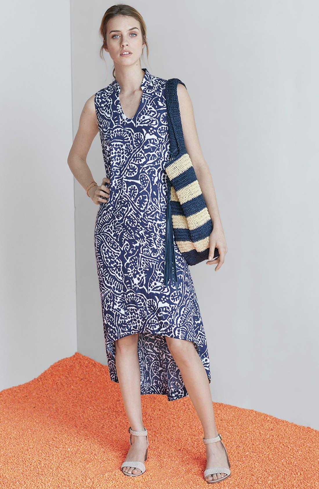 Alternate Image 7  - Caslon® Stripe Crochet Straw Shoulder Bag