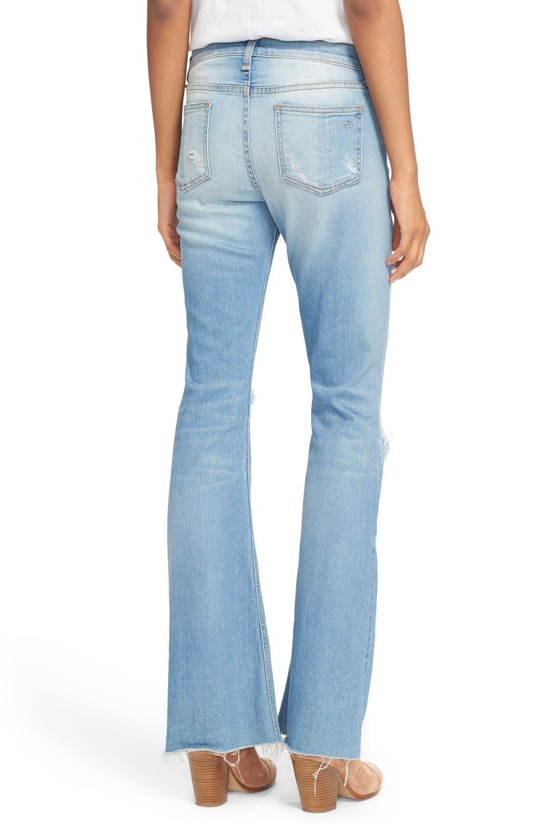 Alternate Image 2  - rag & bone/JEAN 'Beach' High Rise Bell Bottom Jeans (Ryder)
