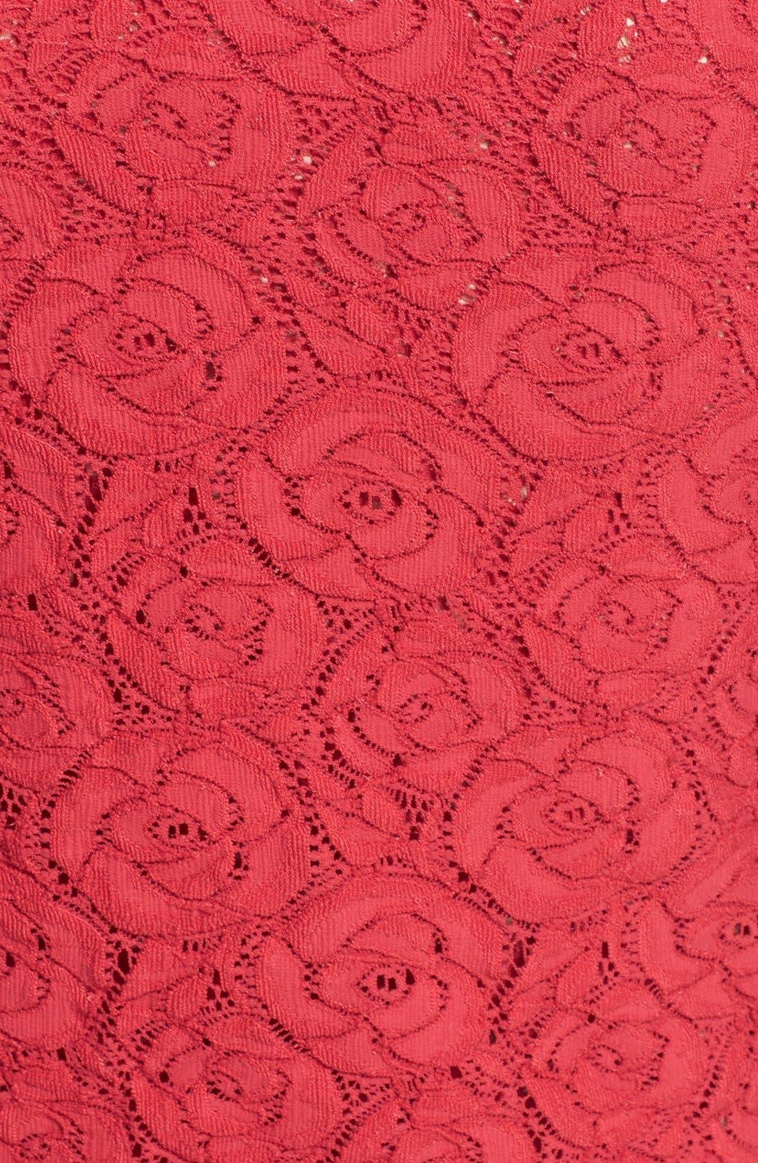 Alternate Image 3  - Fuzzi Floral Lace Cardigan