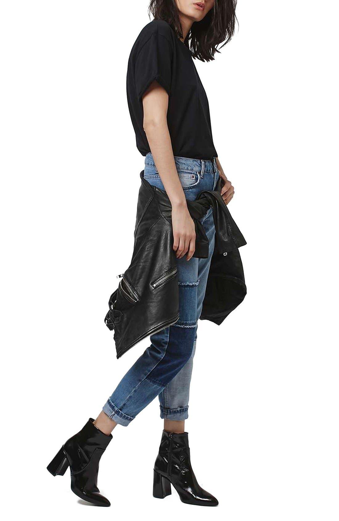 Alternate Image 2  - Topshop Mom Patchwork High Rise Jeans