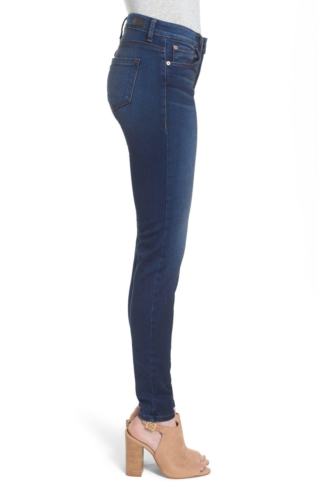 'Piper' Skinny Jeans,                             Alternate thumbnail 5, color,                             Royal Beach