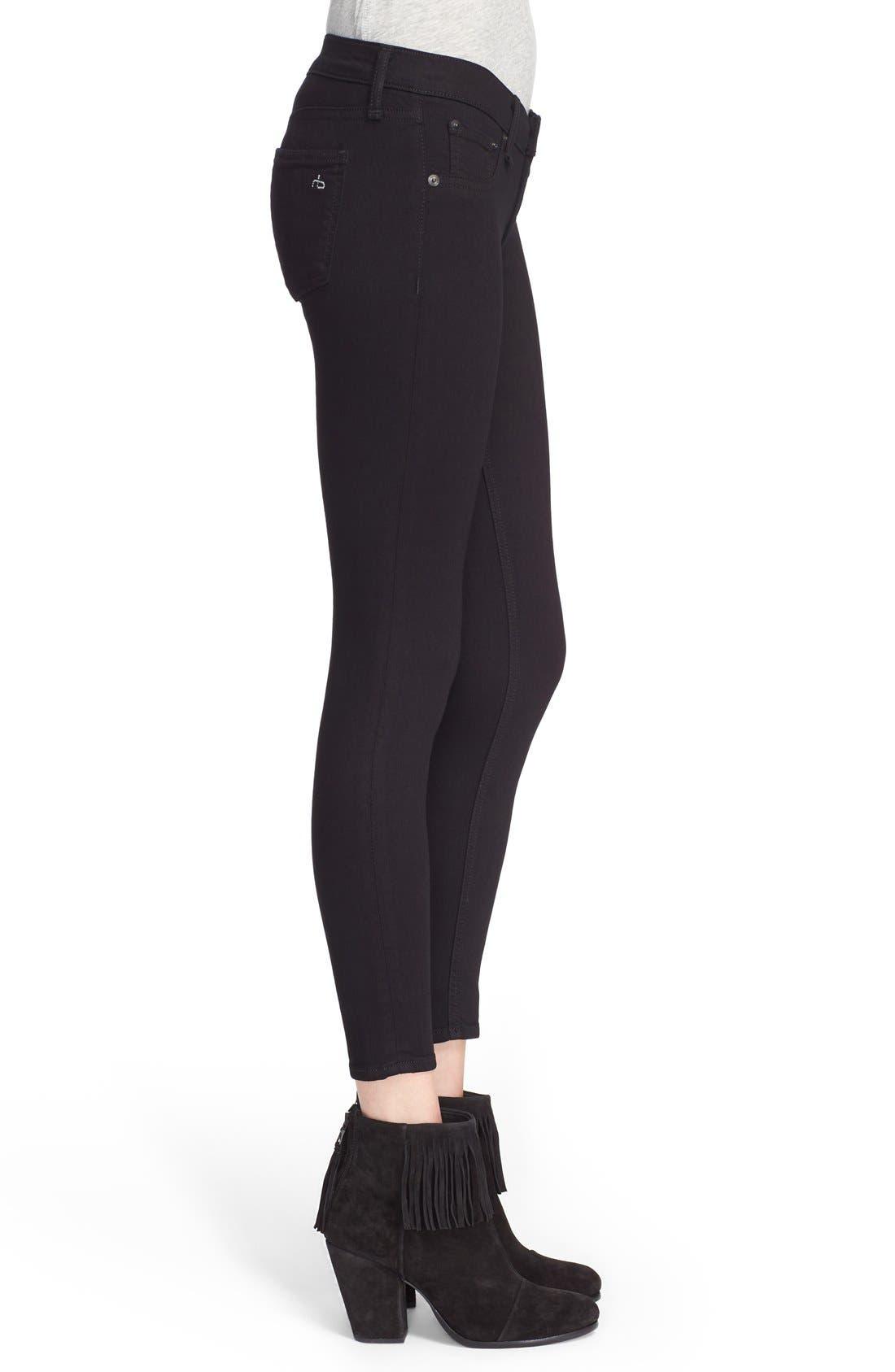 Alternate Image 3  - rag & bone/JEAN Capri Skinny Jeans