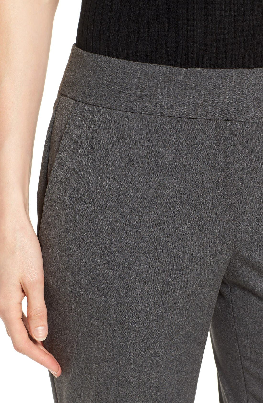 Straight Leg Pants,                             Alternate thumbnail 4, color,                             Dark Heather Grey