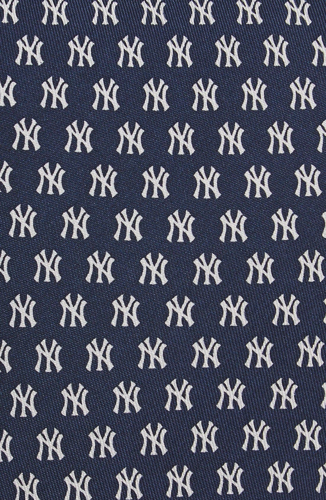 'New York Yankees' Silk Tie,                             Alternate thumbnail 2, color,                             Navy