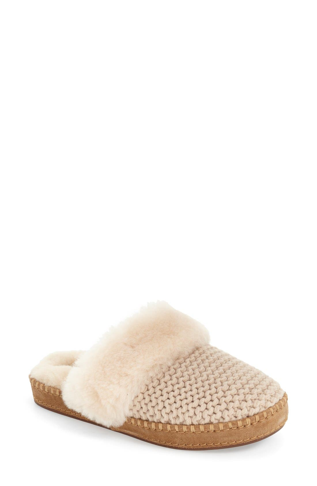 Alternate Image 1 Selected - UGG® Aira Knit Scuff Slipper (Women)