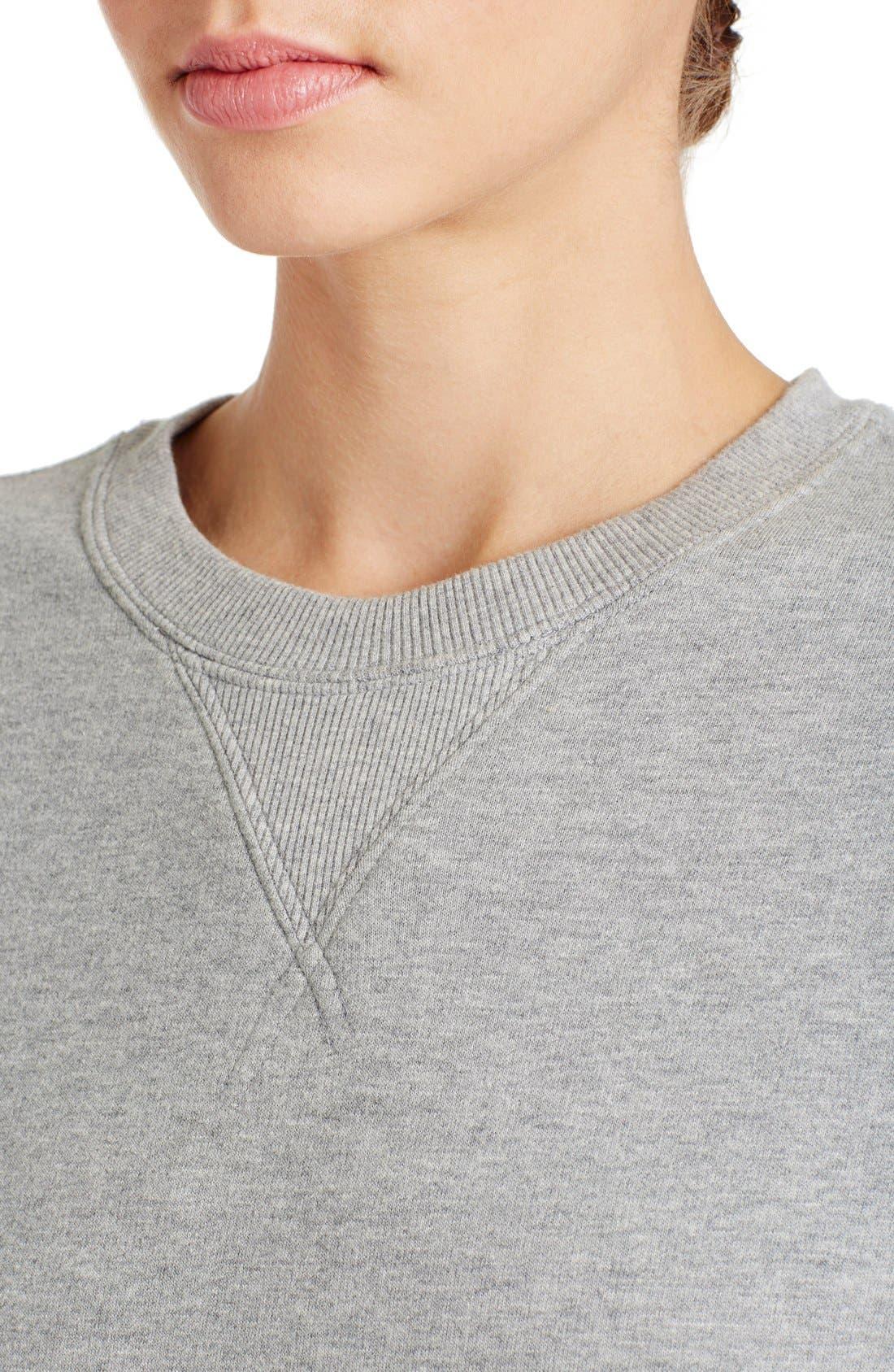 Alternate Image 5  - Valentino Studded Crewneck Sweatshirt