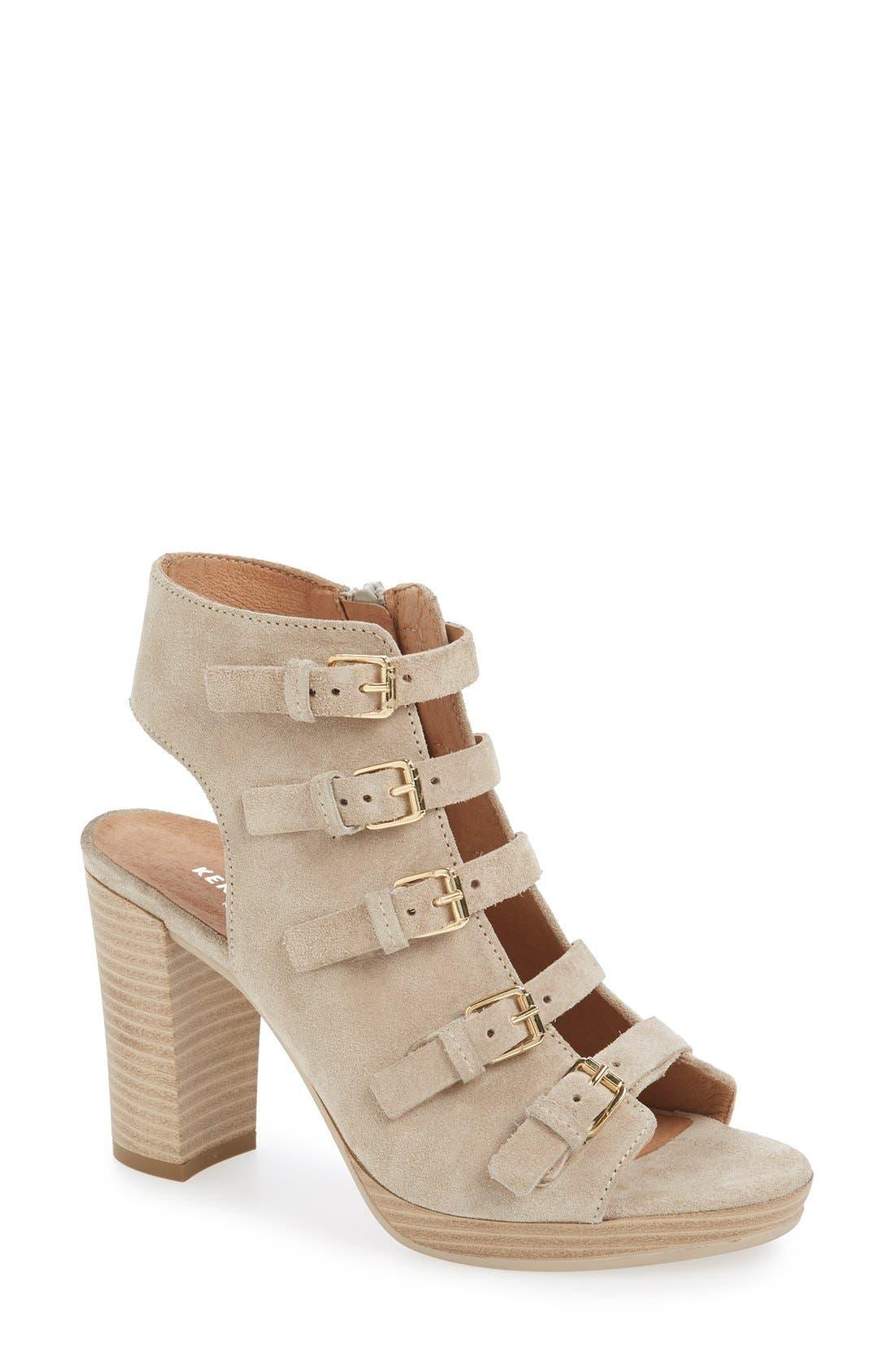 Alternate Image 1 Selected - Kenneth Cole New York 'Kennedy' Buckle Strap Block Heel Sandal (Women)