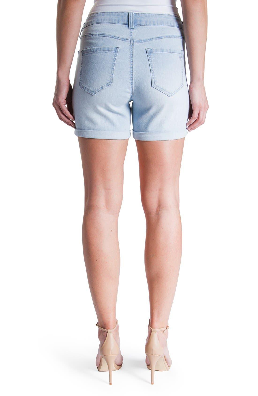 Vickie Denim Shorts,                             Alternate thumbnail 2, color,                             Super Bleach