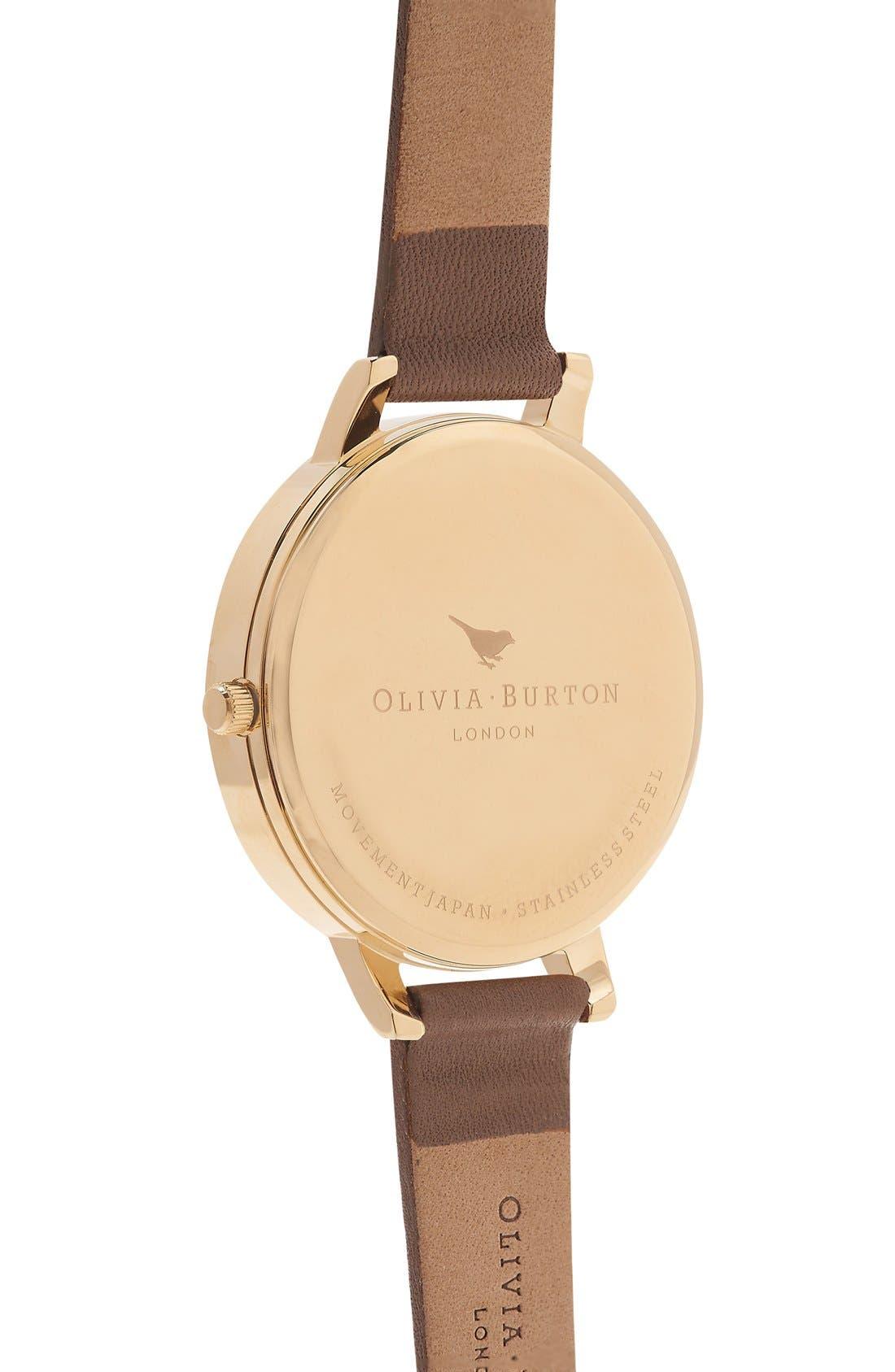 Alternate Image 3  - Olivia Burton 'Timeless' Leather Strap Watch, 38mm