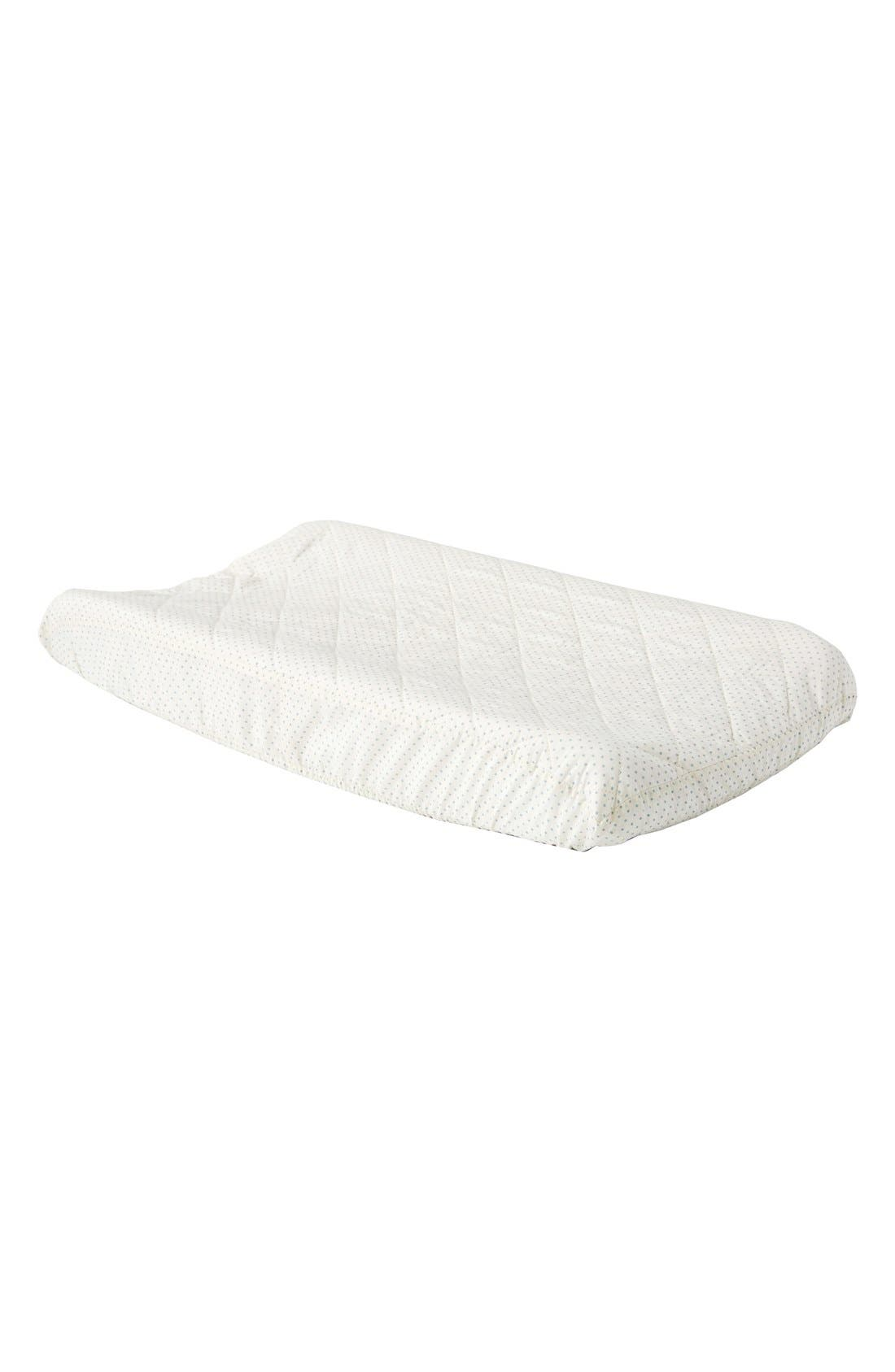 Brushed Cotton Changing Pad Cover,                         Main,                         color, Blue