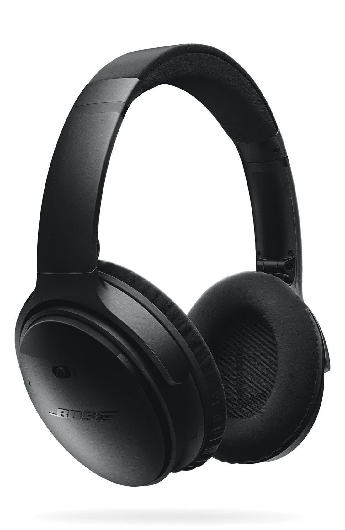 QuietComfort<sup>®</sup> 35 Acoustic Noise Cancelling<sup>®</sup> Bluetooth<sup>®</sup> Headphones,                             Main thumbnail 1, color,                             Black