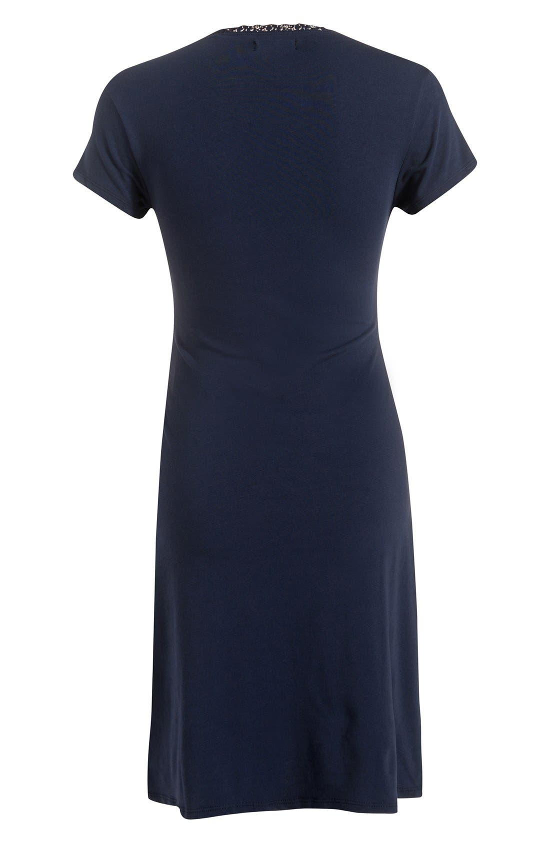 'Marni' Maternity/Nursing Jersey Dress,                             Alternate thumbnail 2, color,                             Navy