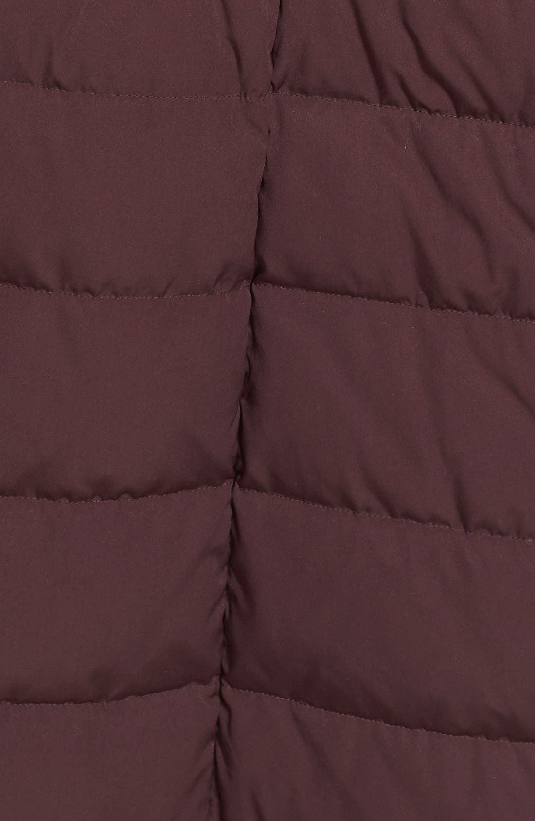 Quilted Long Coat with Down & PrimaLoft<sup>®</sup> Fill,                             Alternate thumbnail 5, color,                             Dark Plum