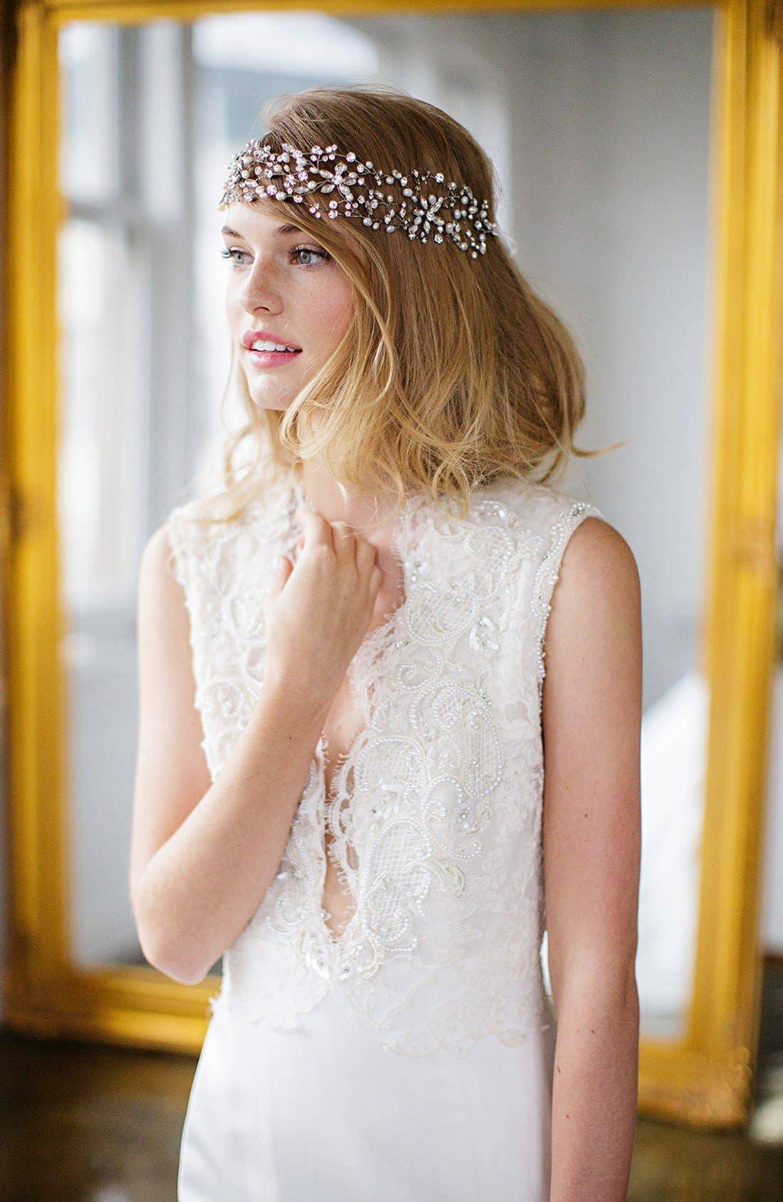 Main Image - Brides & Hairpins 'Thalia' Pearl & Jeweled Head Band