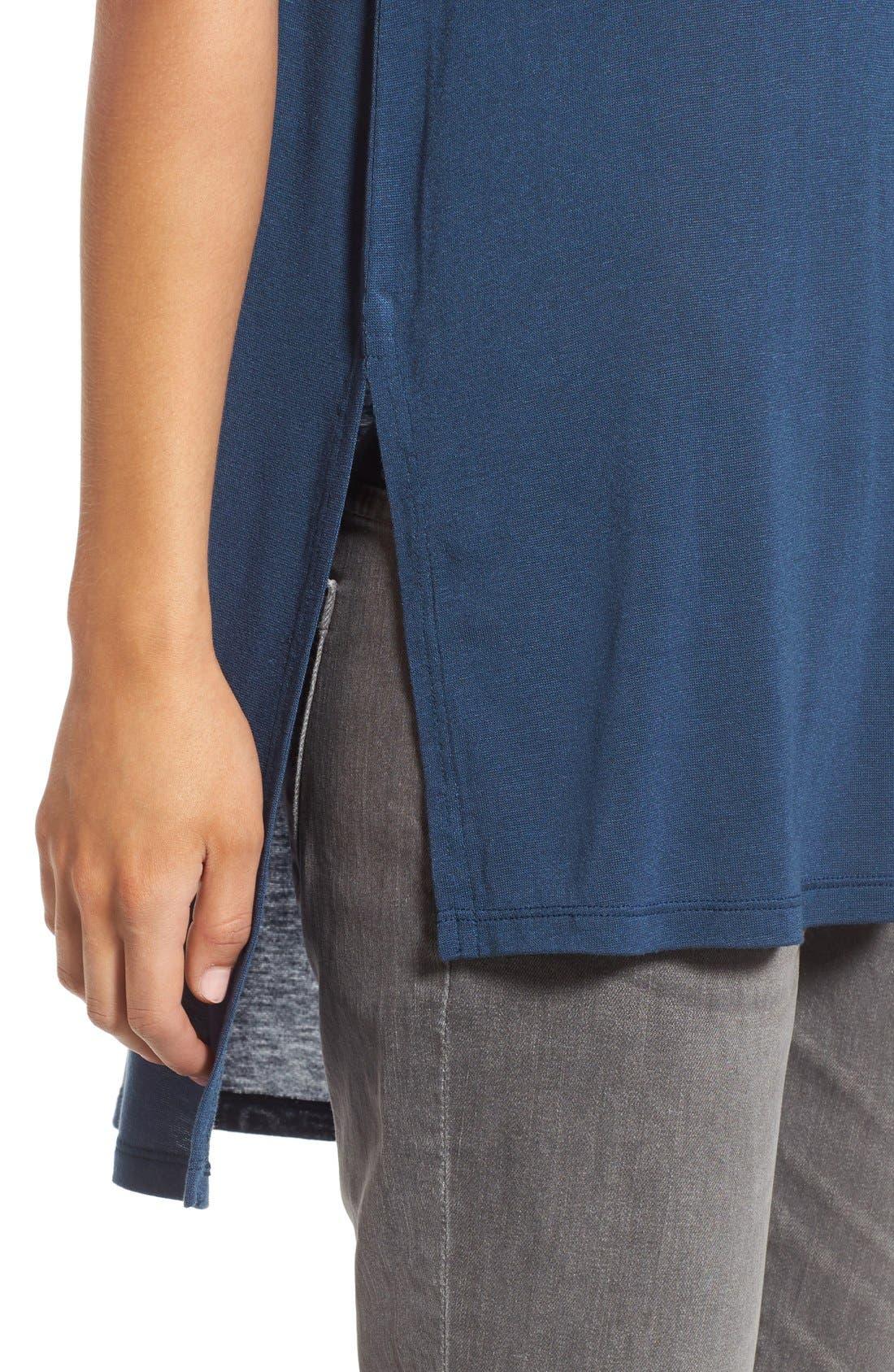 Alternate Image 4  - BP. Short Sleeve High/Low Lightweight Tee