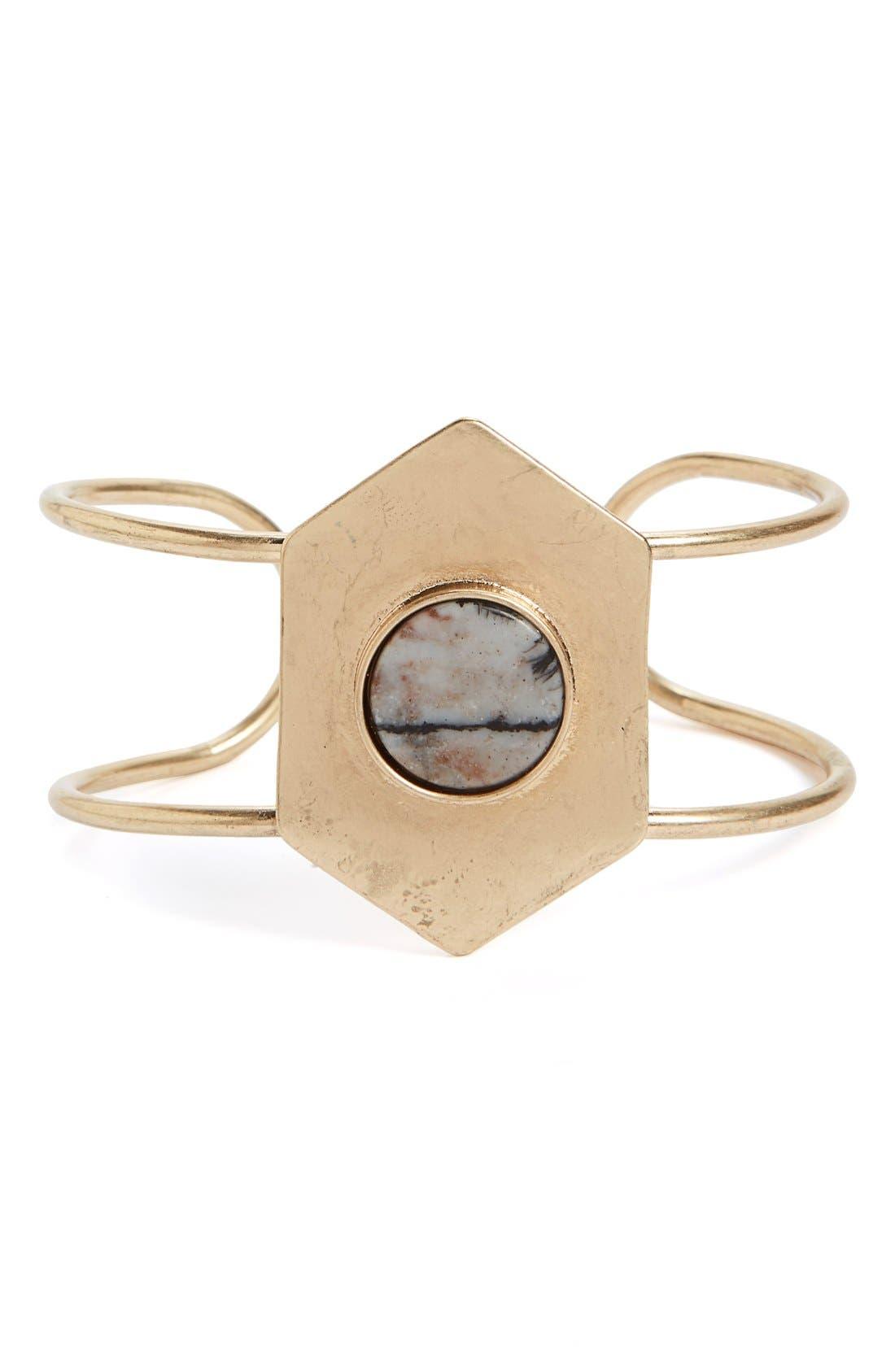 Main Image - Sole Society Deco Stone Cuff