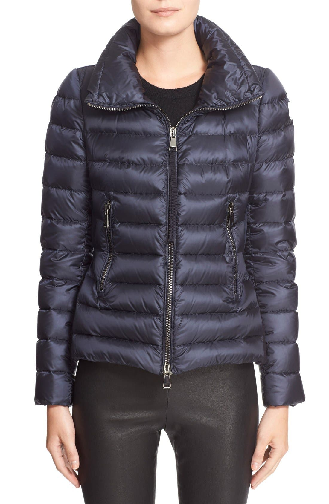 'Agape' Water Resistant Hooded Down Jacket,                         Main,                         color, Navy