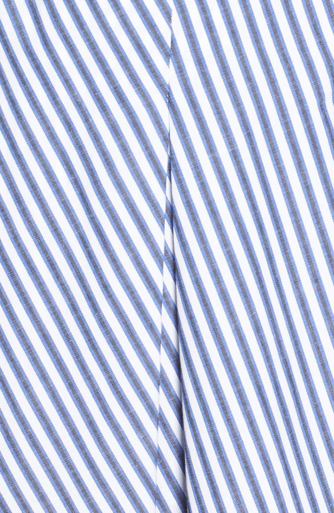 Alternate Image 5  - MICHAEL Michael Kors Belted Stripe Stretch Cotton Shirtdress