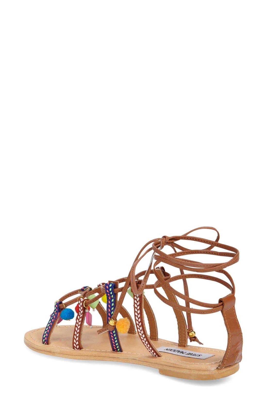 Alternate Image 2  - Steve Madden 'Ommaha' Embellished Lace-up Sandal (Women)